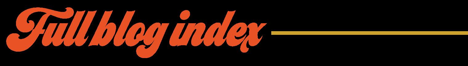Blog Index | Jordan Hefler