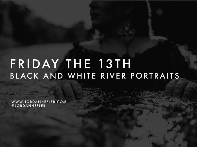 Dark Glamour Photography for Friday the 13th | River Portraits | Jordan Hefler