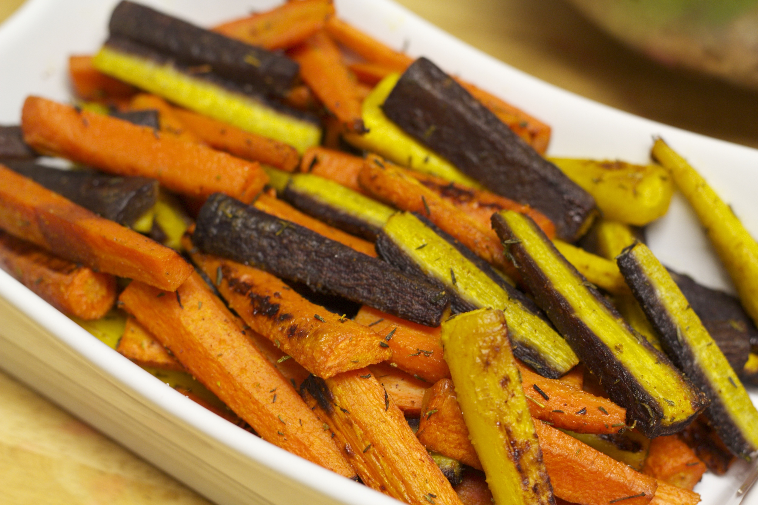 roasted rainbow carrots.body design by brit