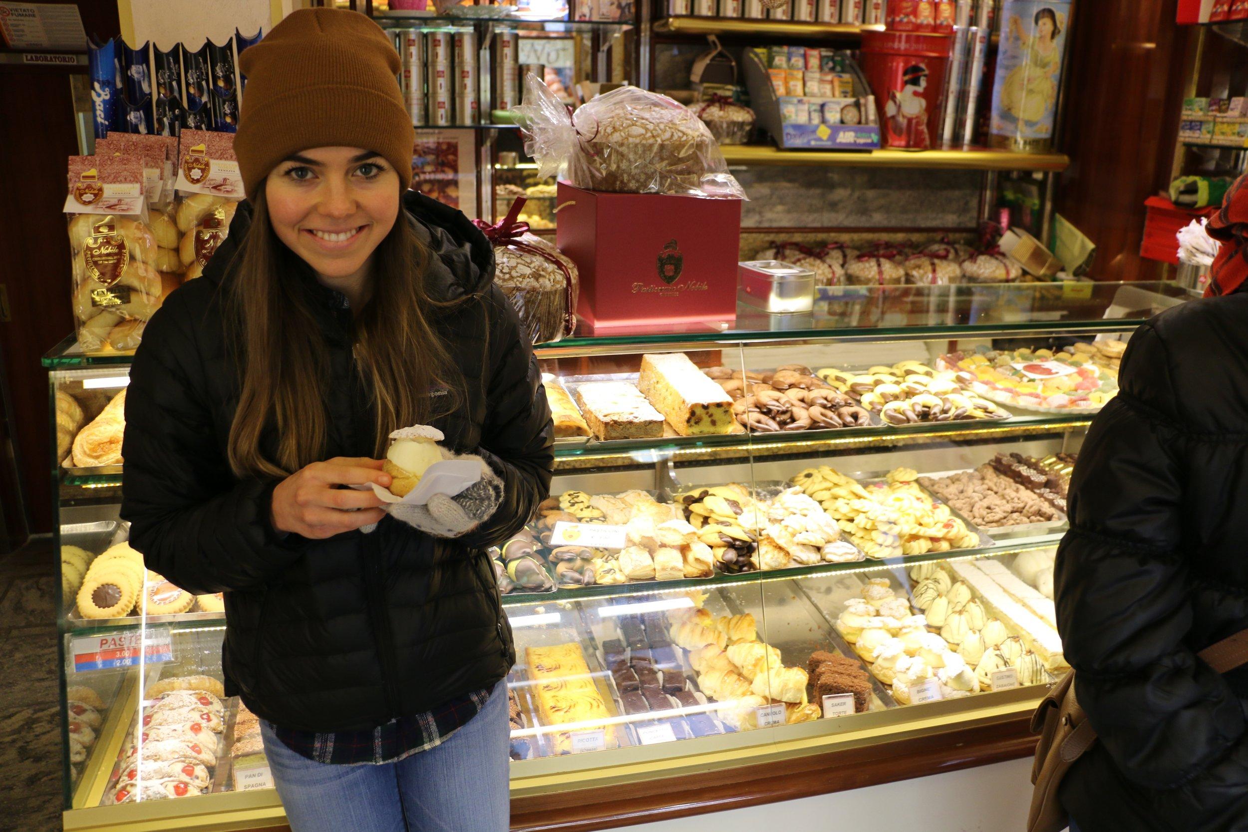 Puff Pastry in Italy.... yep, enjoyed every bite