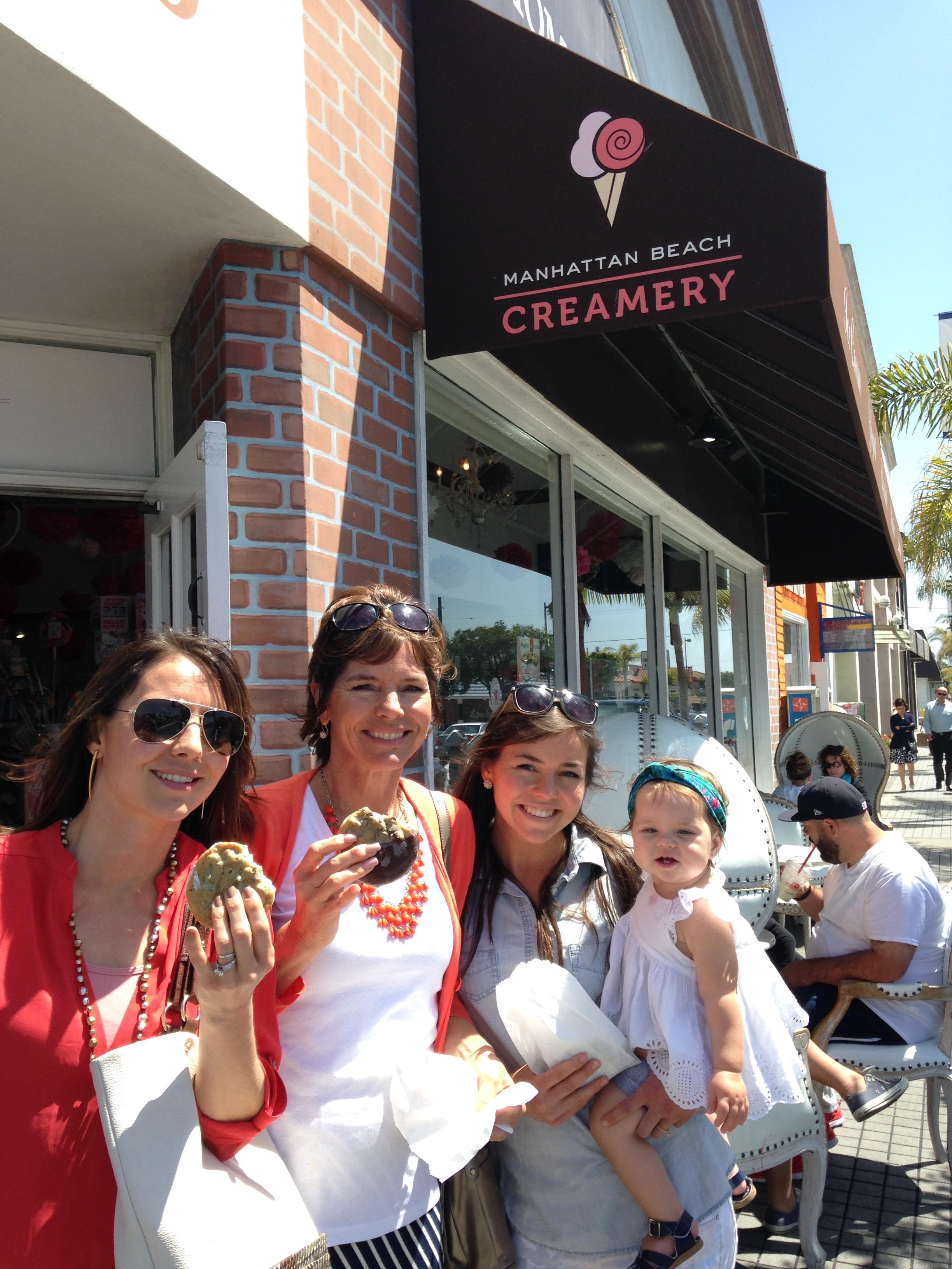 Cookie Sandwhich at Manhattan Beach Creamery....... amazing and no regrets