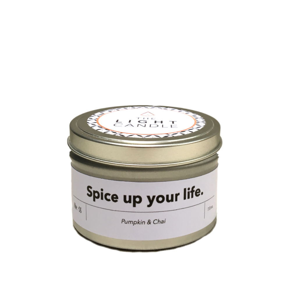 Pumpkin & Chai Candle,   The Light Candle  $20  *use code  CHIC  for 15% off*