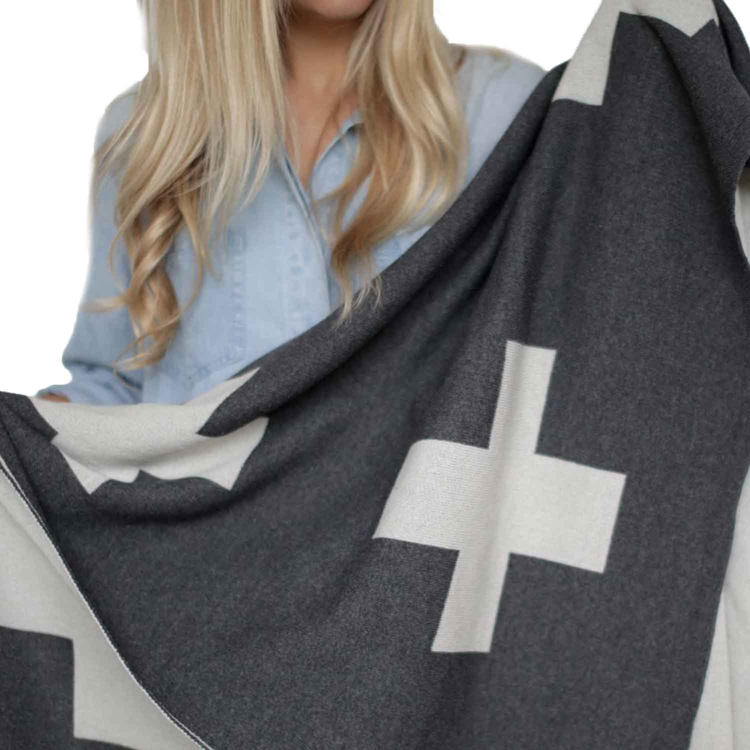 Cross Throw Blanket ,  Newly  $98  *use code  Chic20  for 20% off*
