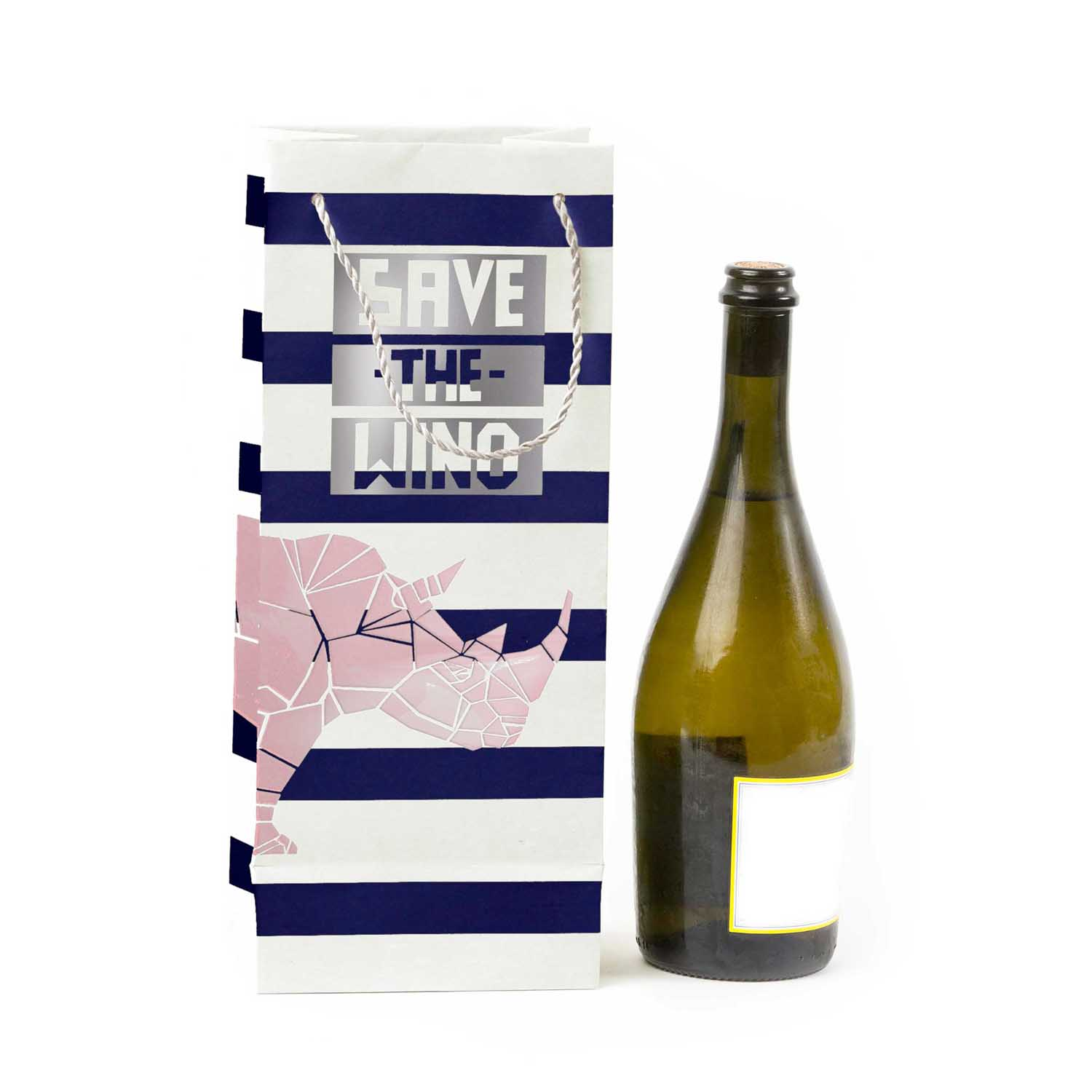 'Save the Wino' Bag ,  Accompany  $6  *use code  SAVETHEWINO  for 20% off*