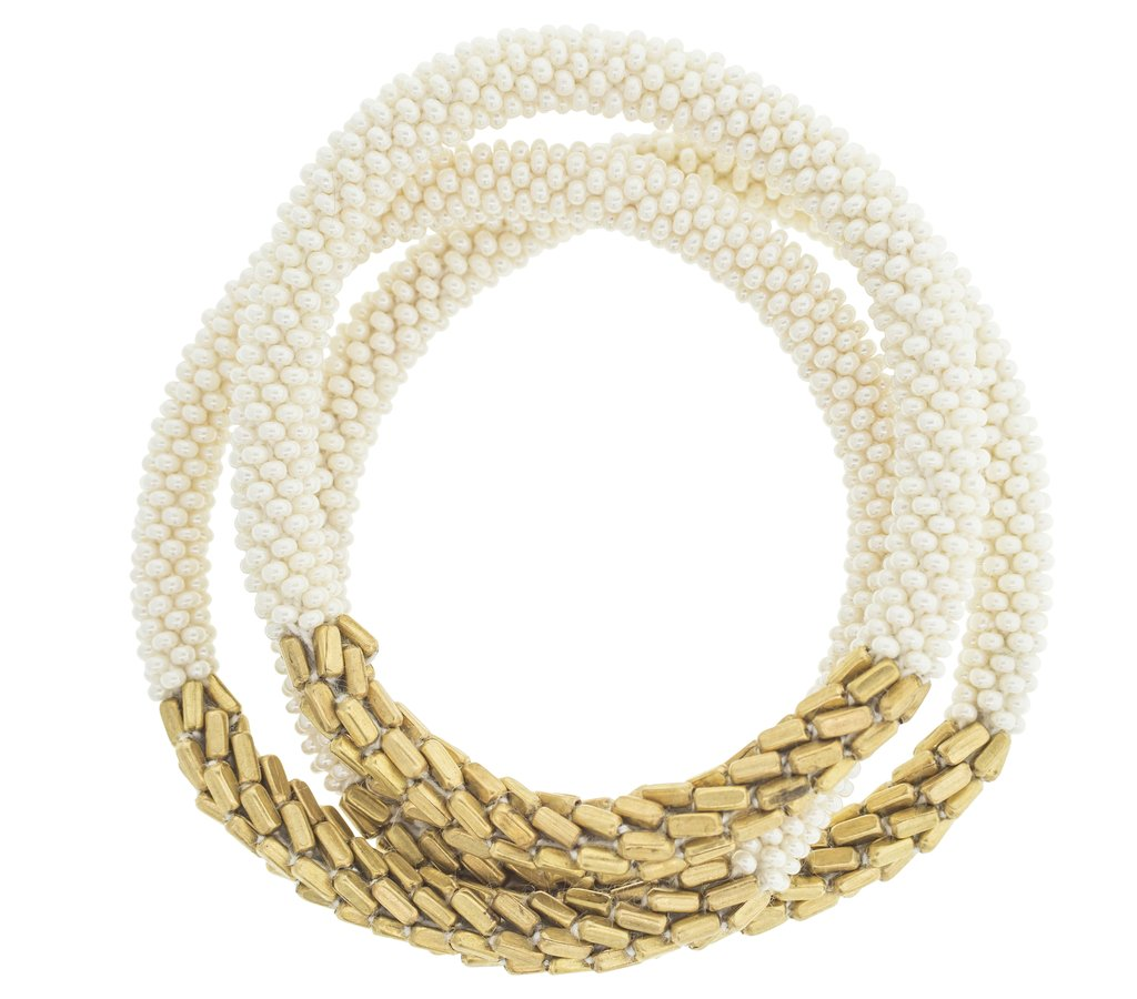Statement Roll-On® Bracelets in Hema Cream