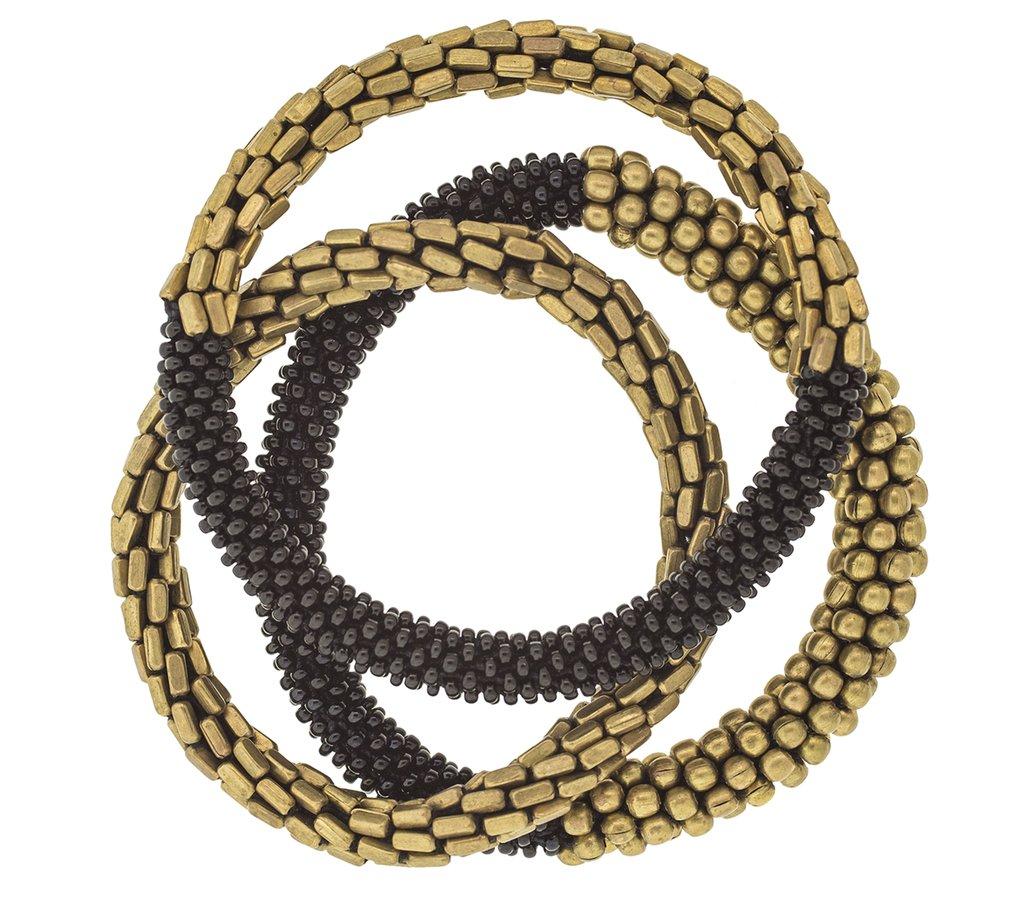 Statement Roll-On® Bracelets in Golden Hema