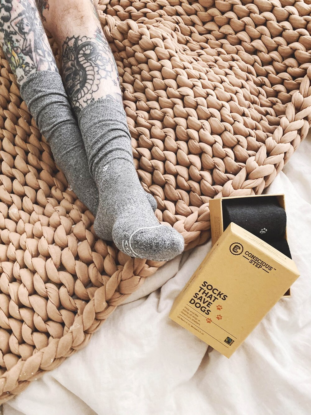 Sustainably Chic | Sustainable Fashion & Lifestyle Blog | The Best Sustainable Gifts for Men | Organic Socks from Conscious Step.jpg