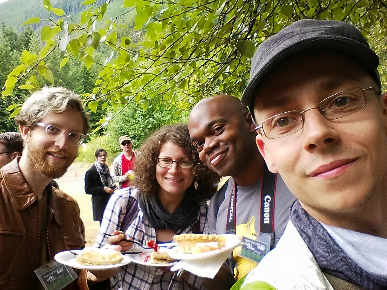 Me at the 2015 Twin Peaks Fest in WA with The Twin Peaks Podcast's Melanie, Will, and Matt.
