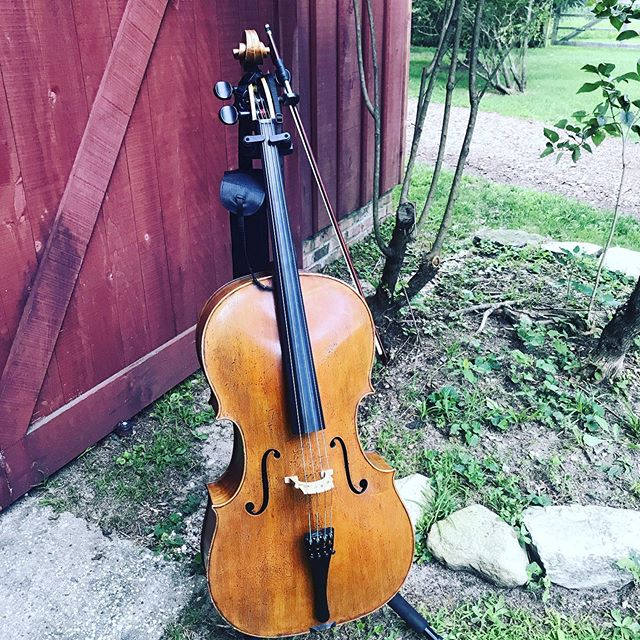 Outdoor gig life #cello @deep_roots_ensemble #americanrootsmusic