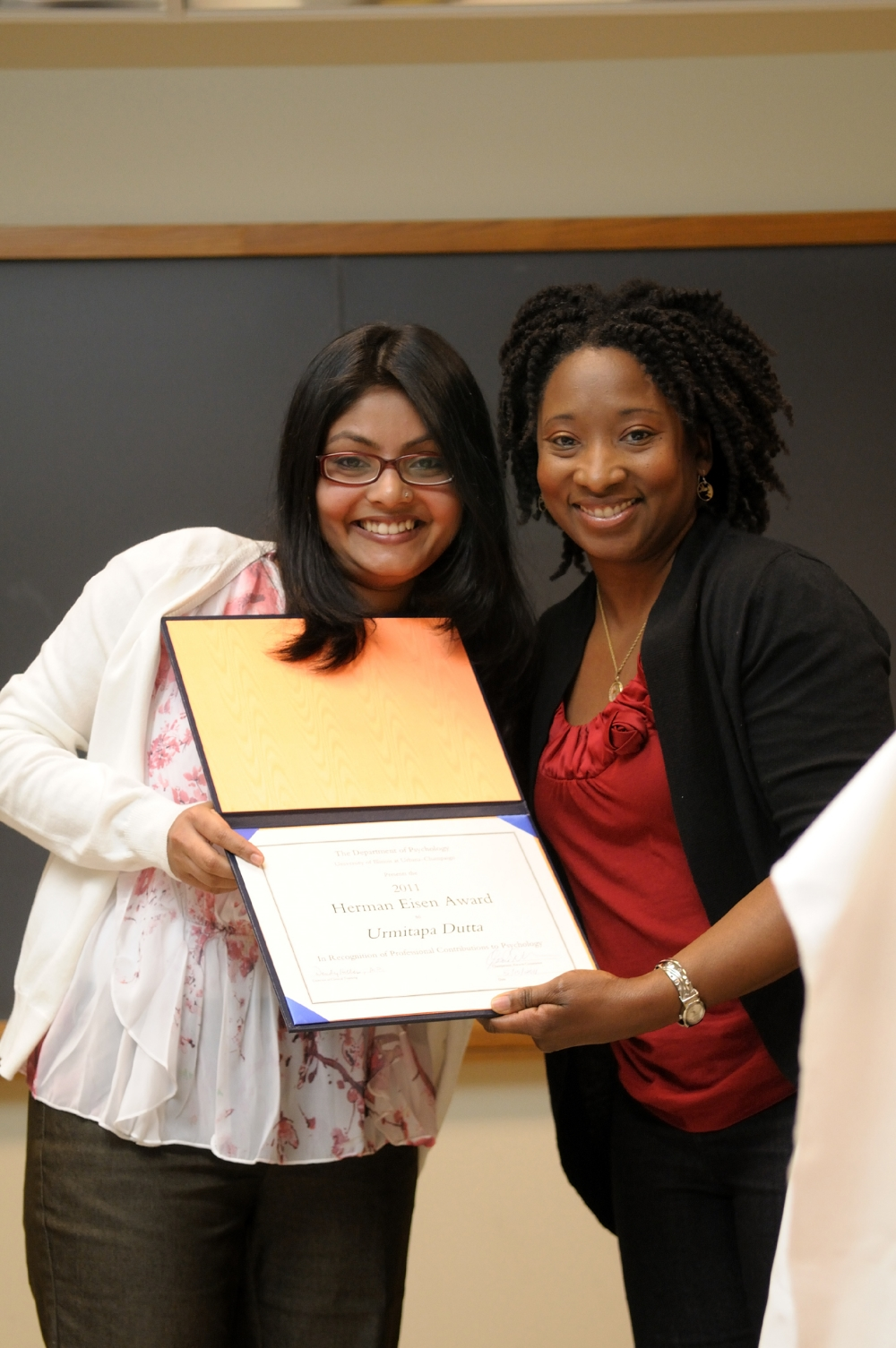 Hermen Eisen Award for the exemplary professional contribution to the practice of psychology in service of social justice, University of Illinois at Urbana Champaign, 2011