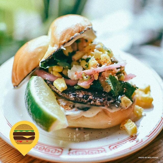 "WE PRESENT YOU W/ PART OUTRAGEOUS, DEFINITELY DELICIOUS, ""MOS-BURGER"" INSPIRED GRILLED CORN & CHEESE BURGER. AVAILABLE THIS WEEK ONLY FOR $5 #eloteburger #portlandburgerweek #mexicanjapanesefusion"