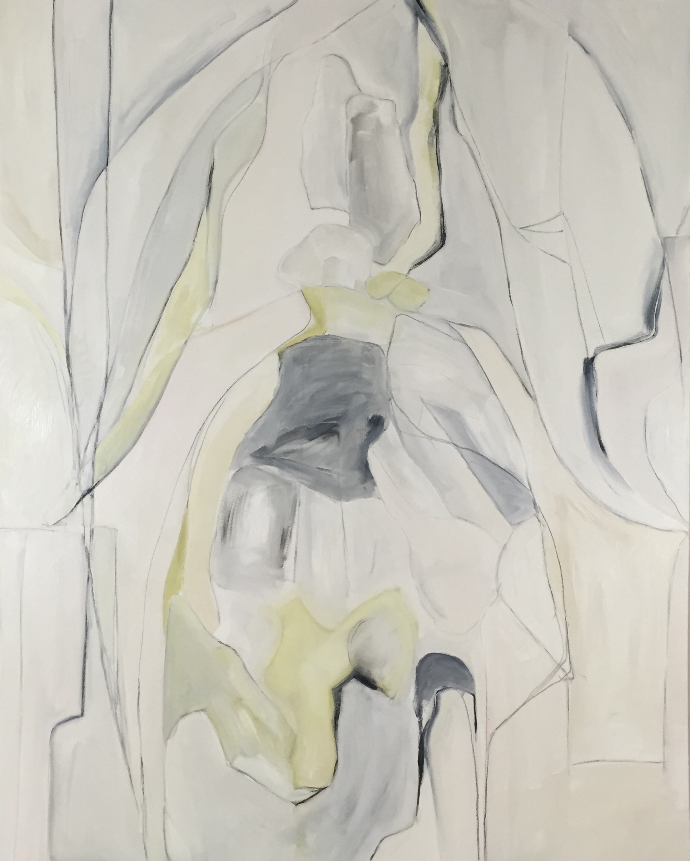 "Swallow Tail Green Gray , oil on canvas, 48""x60"""