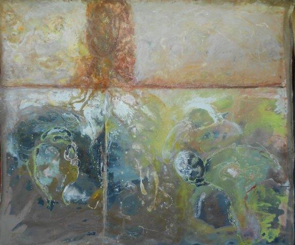 Sea Wall – Two Worlds 2012  Measurements: 180 x 160 cm