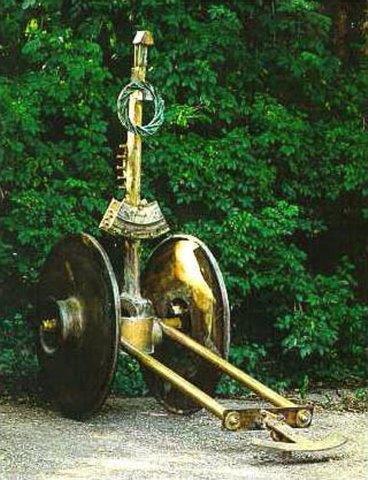 Chariot - Auriga 1995  Materials: bronze  Measurements: 280 x 300 x 90 cm