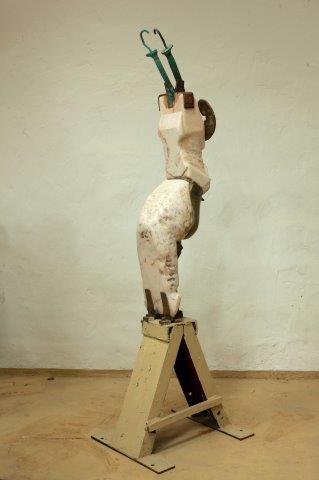 Fallen Angel 1975  Materials: marble,bronze on iron pedestal  Measurements: 200 x 100x 100cm