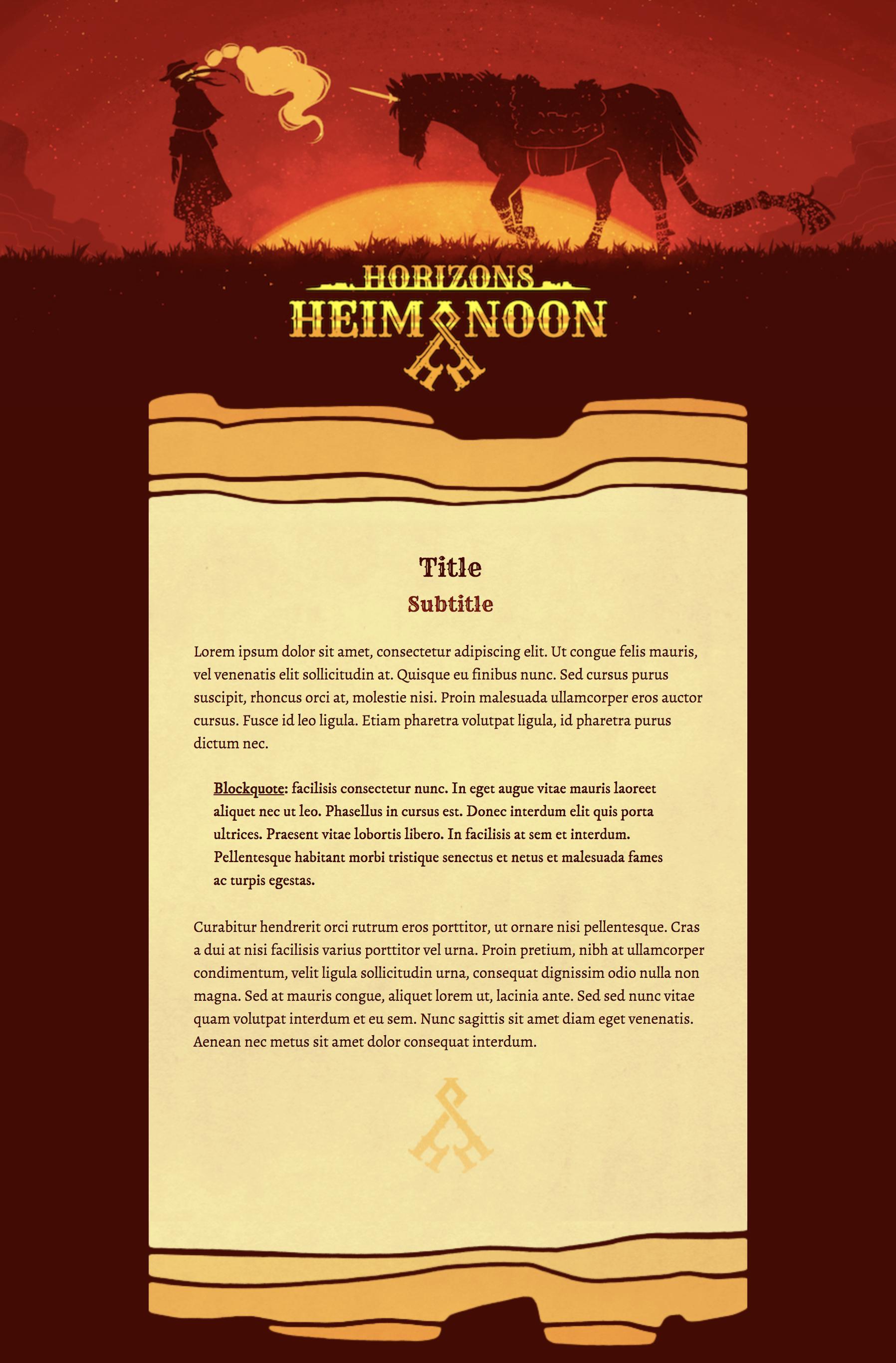 Heim Noon Horizons Literature CSS Skin