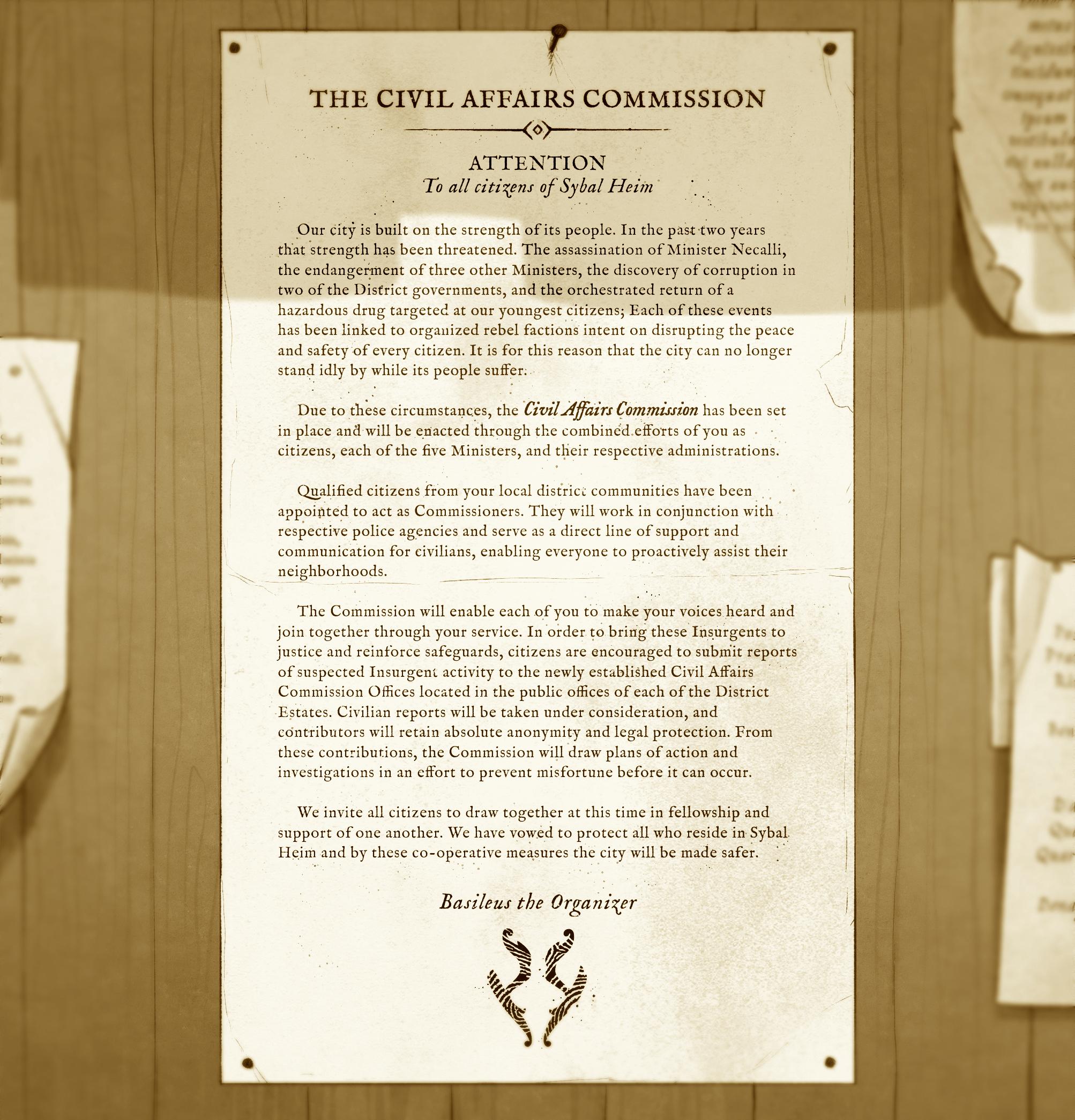 The Civil Affairs Commission (RPG promo)