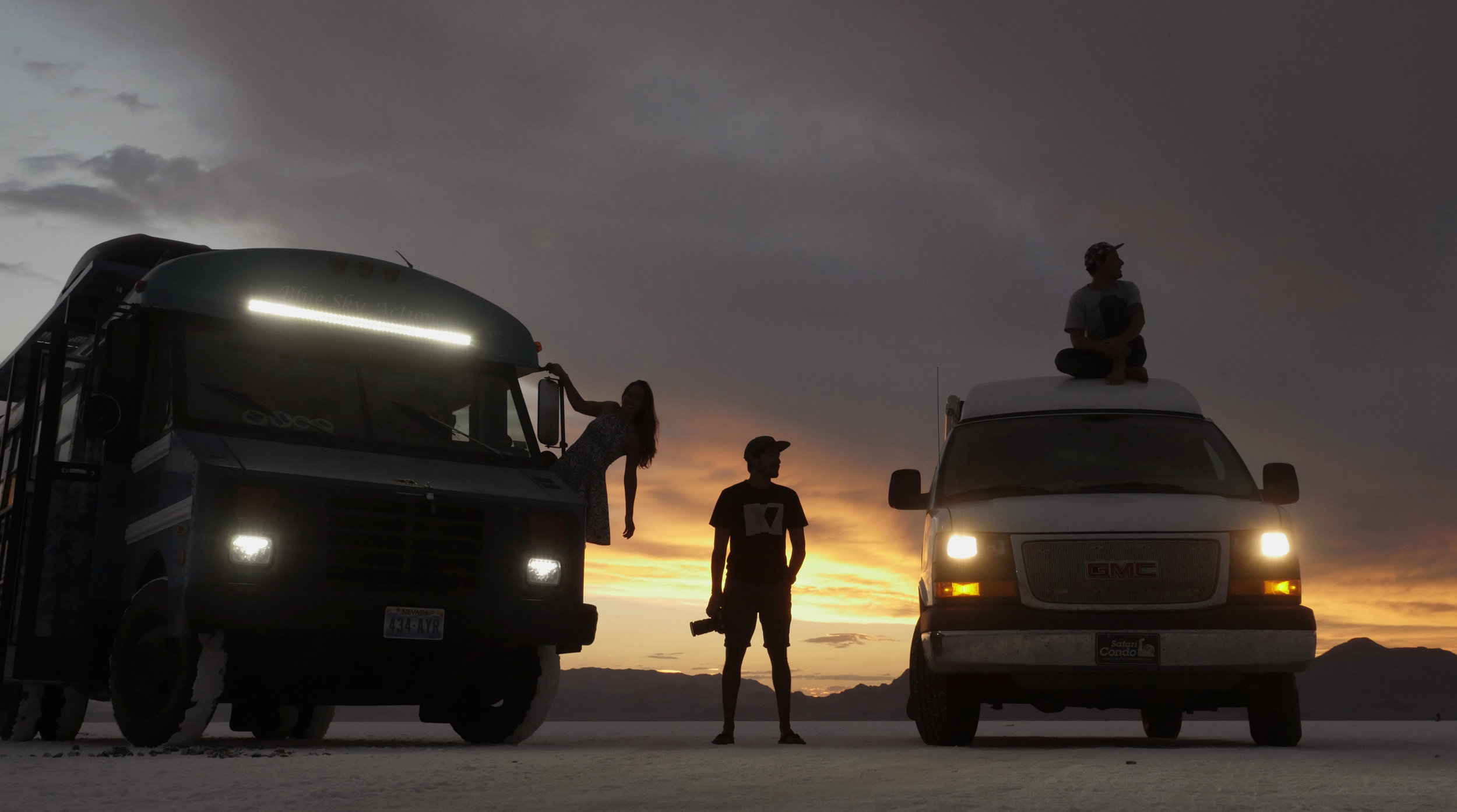 Salty Hair, Don't Care   | Bonneville Salt Flats in Utah with Blue Bus Adventure, Photo: Renaud Furlotte
