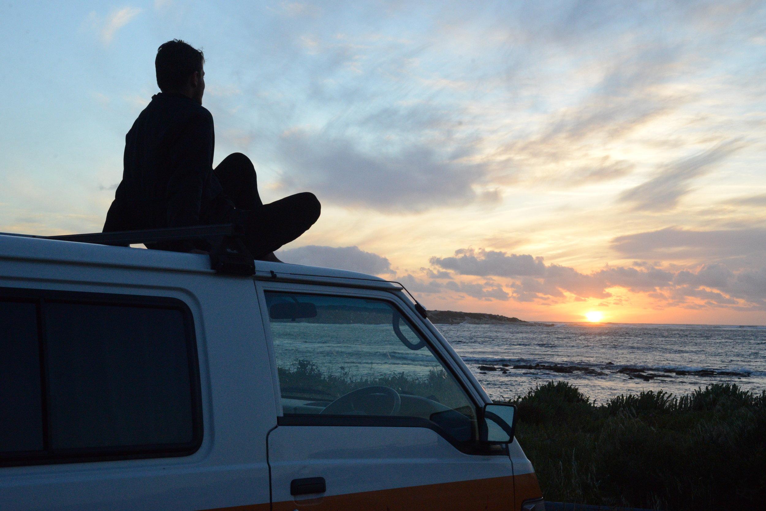 Sunset over the amazing West Coast