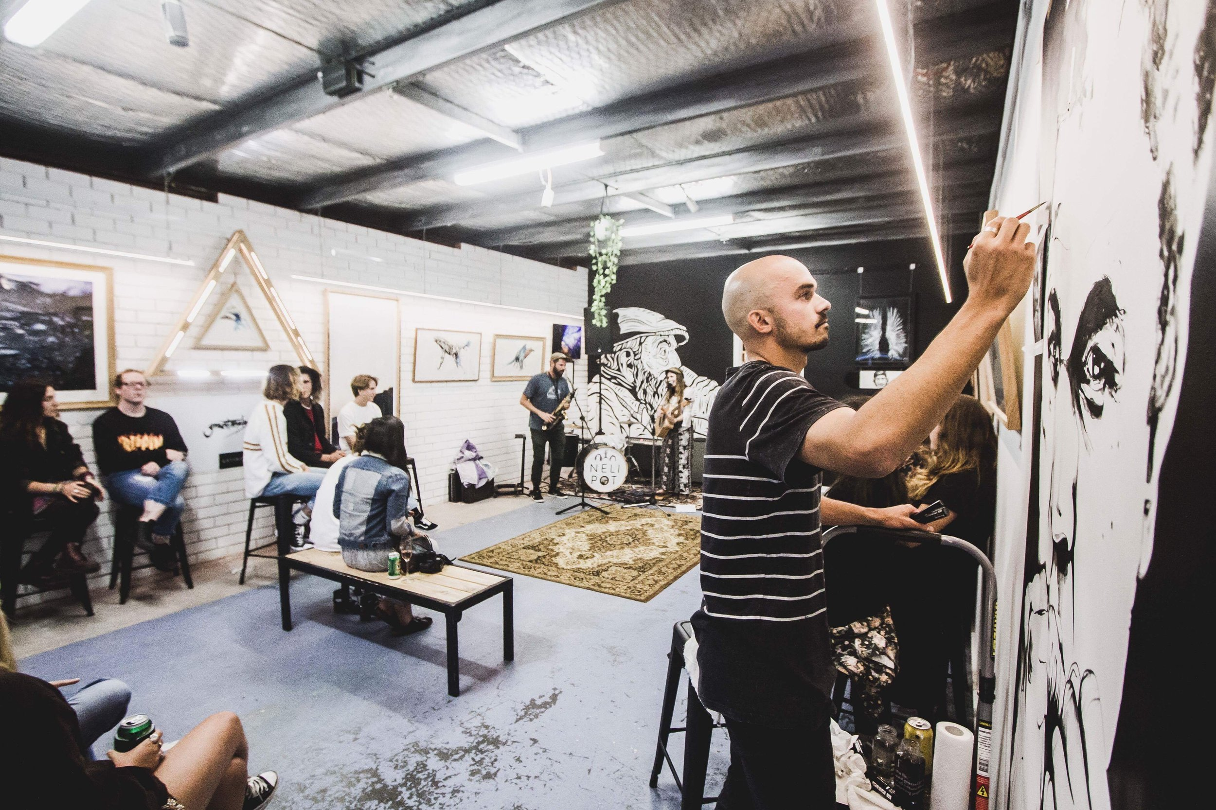 Grant Moloney art space & live art Photo: @haydenseyes