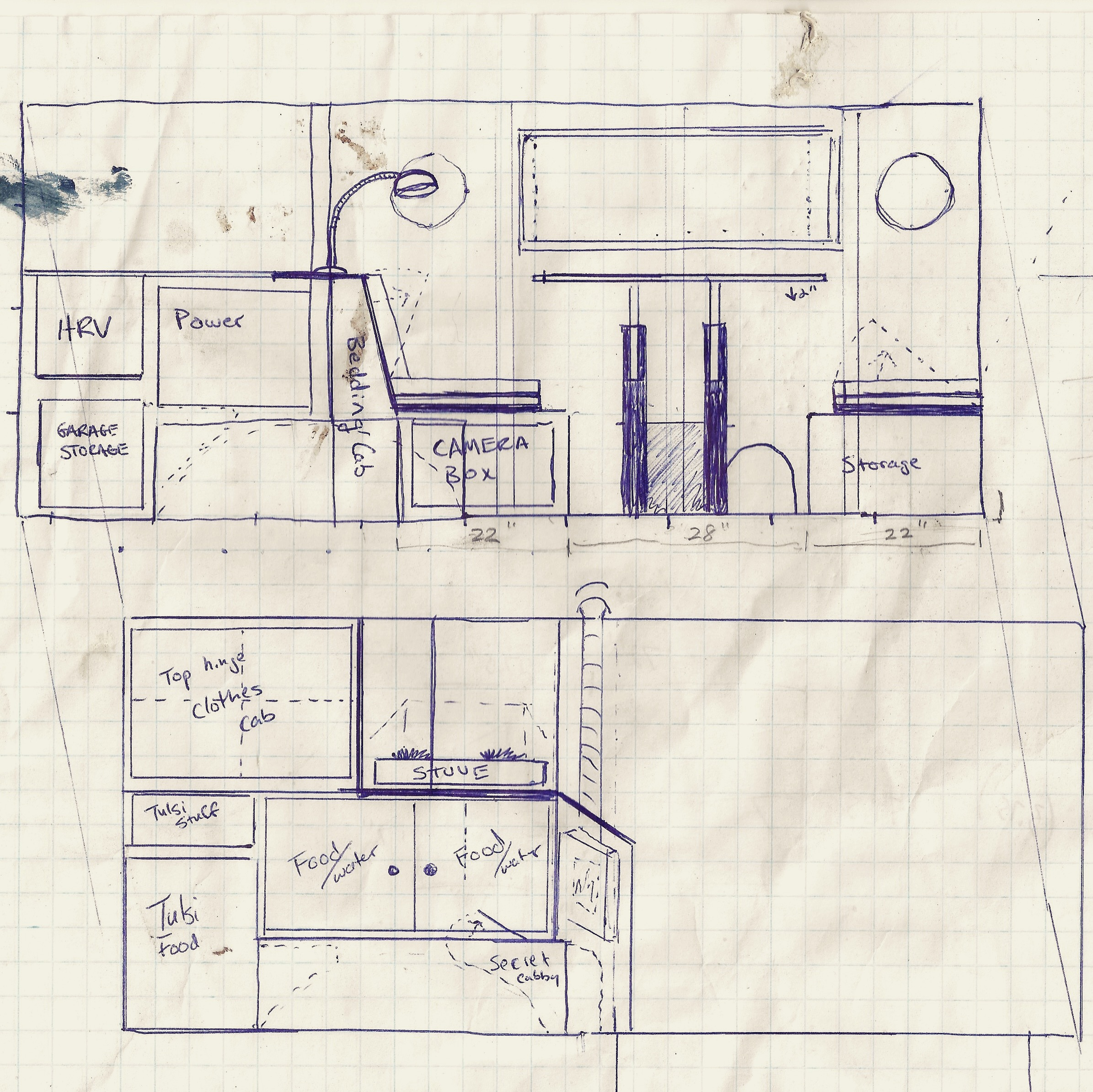 Vitruvian Van Sketches of The Original Layout