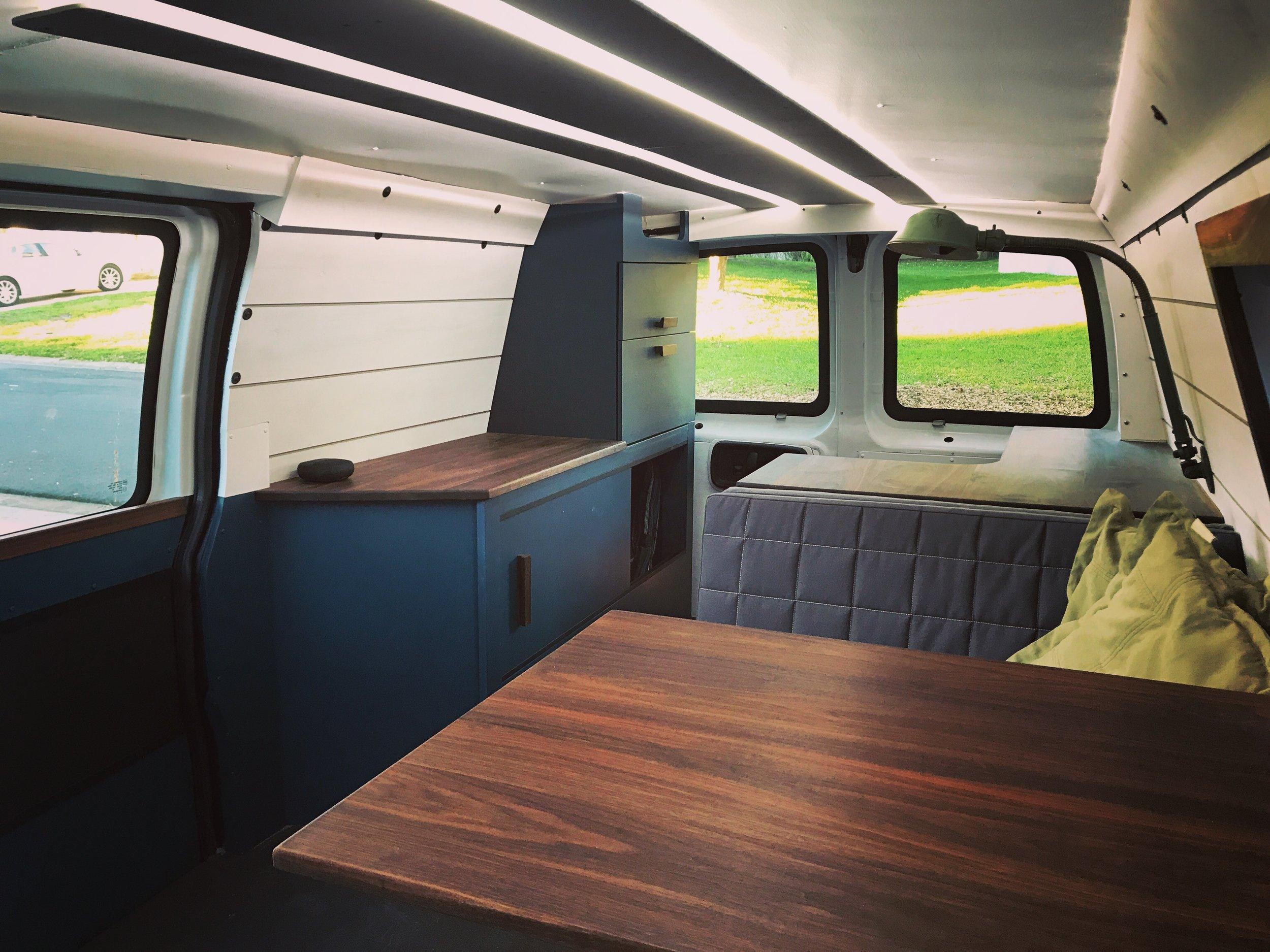 Van Interior Passenger Side