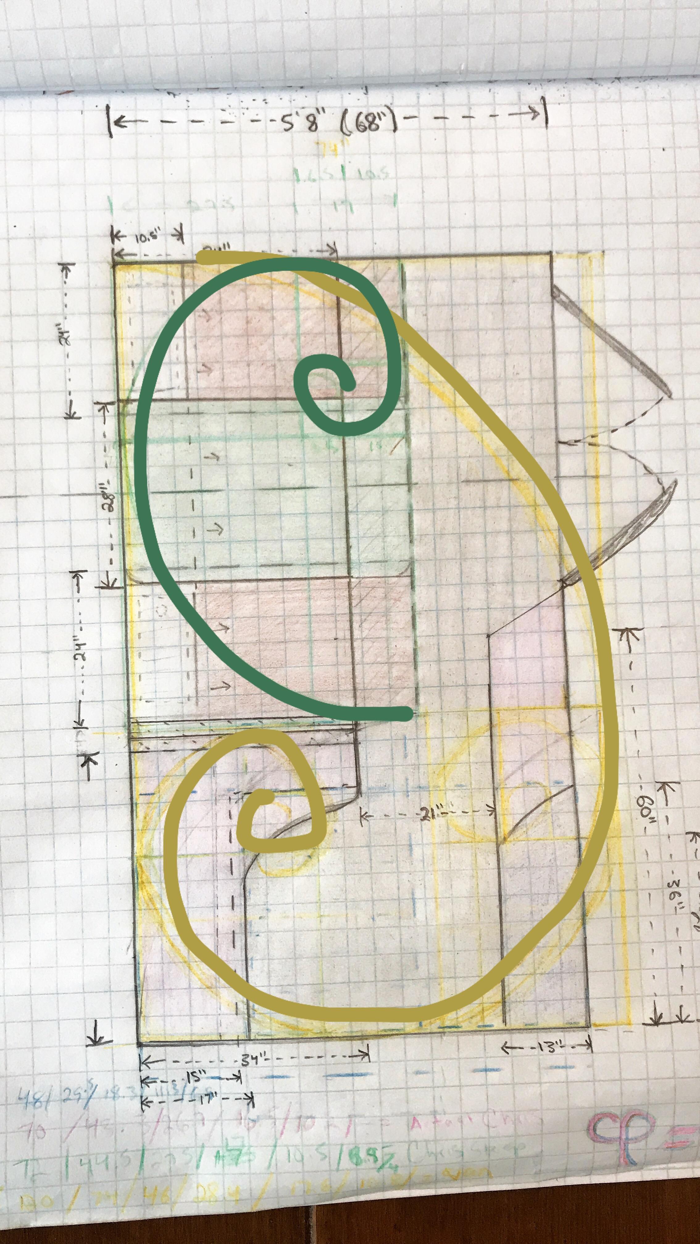 Vitruvian Van - Original Golden Ration Design Sketch