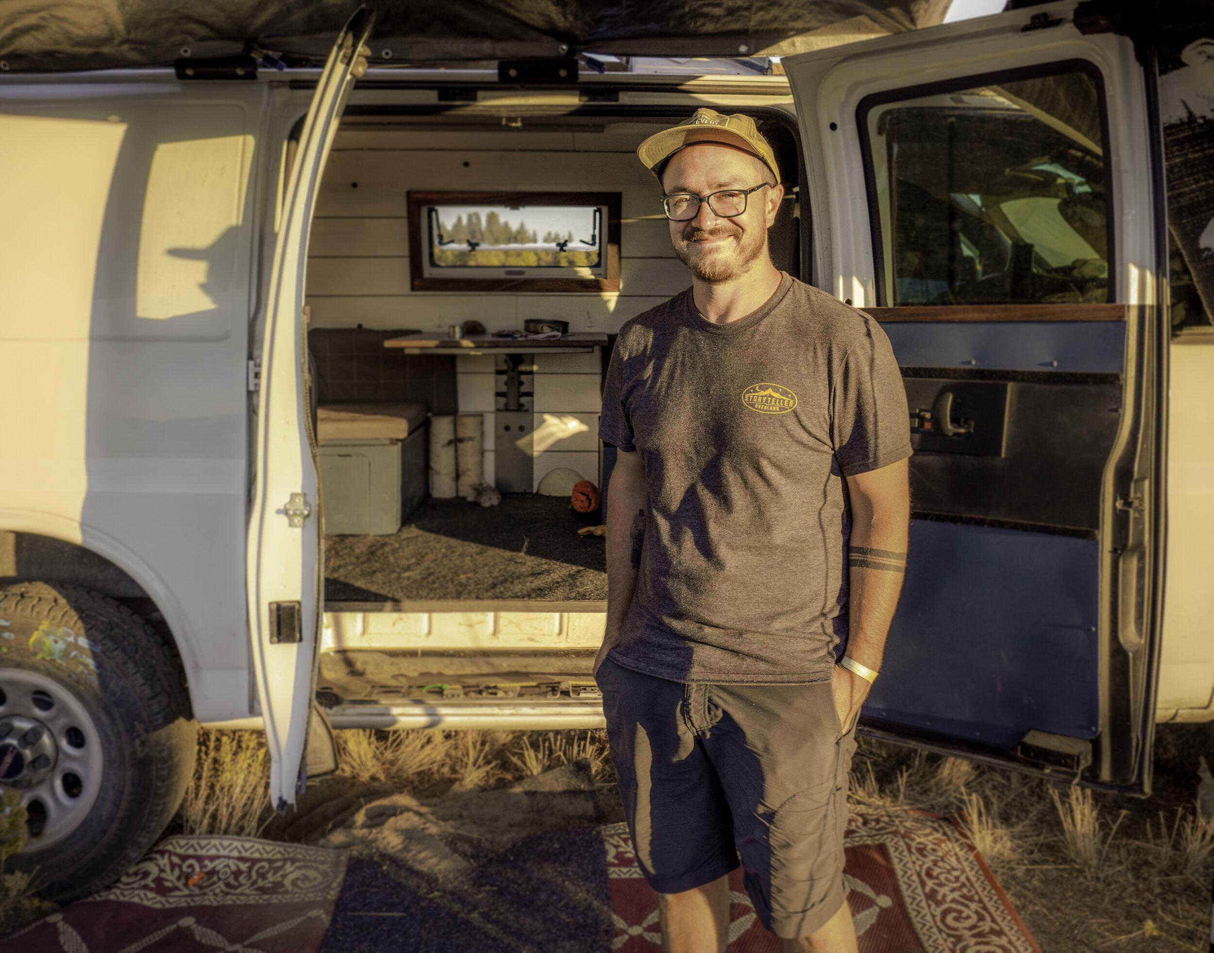 Chris & his self converted Vitruvian Van Photo By:  @NathanJames.Visuals