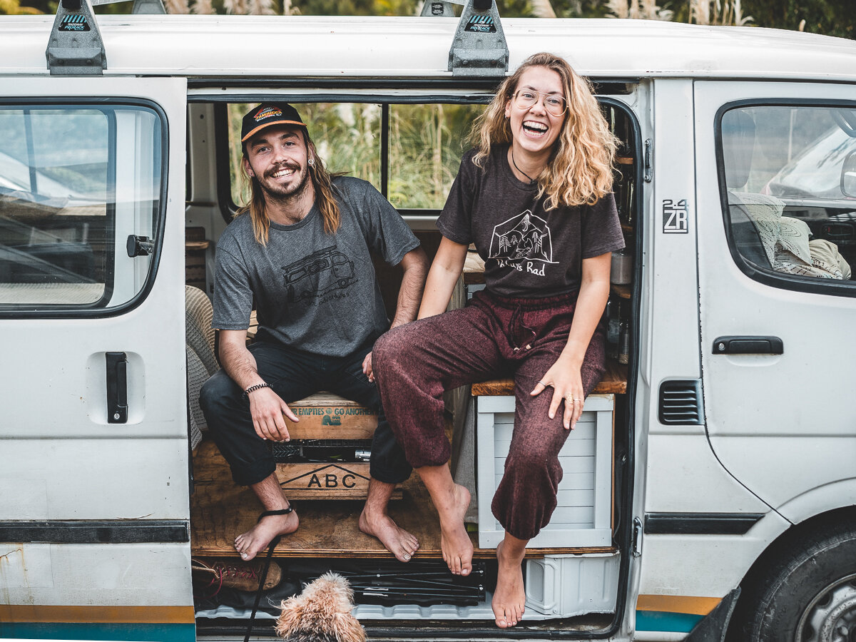 Josy & Nathen in Eddy, the latest Van they converted into a Rolling Home for $20NZ