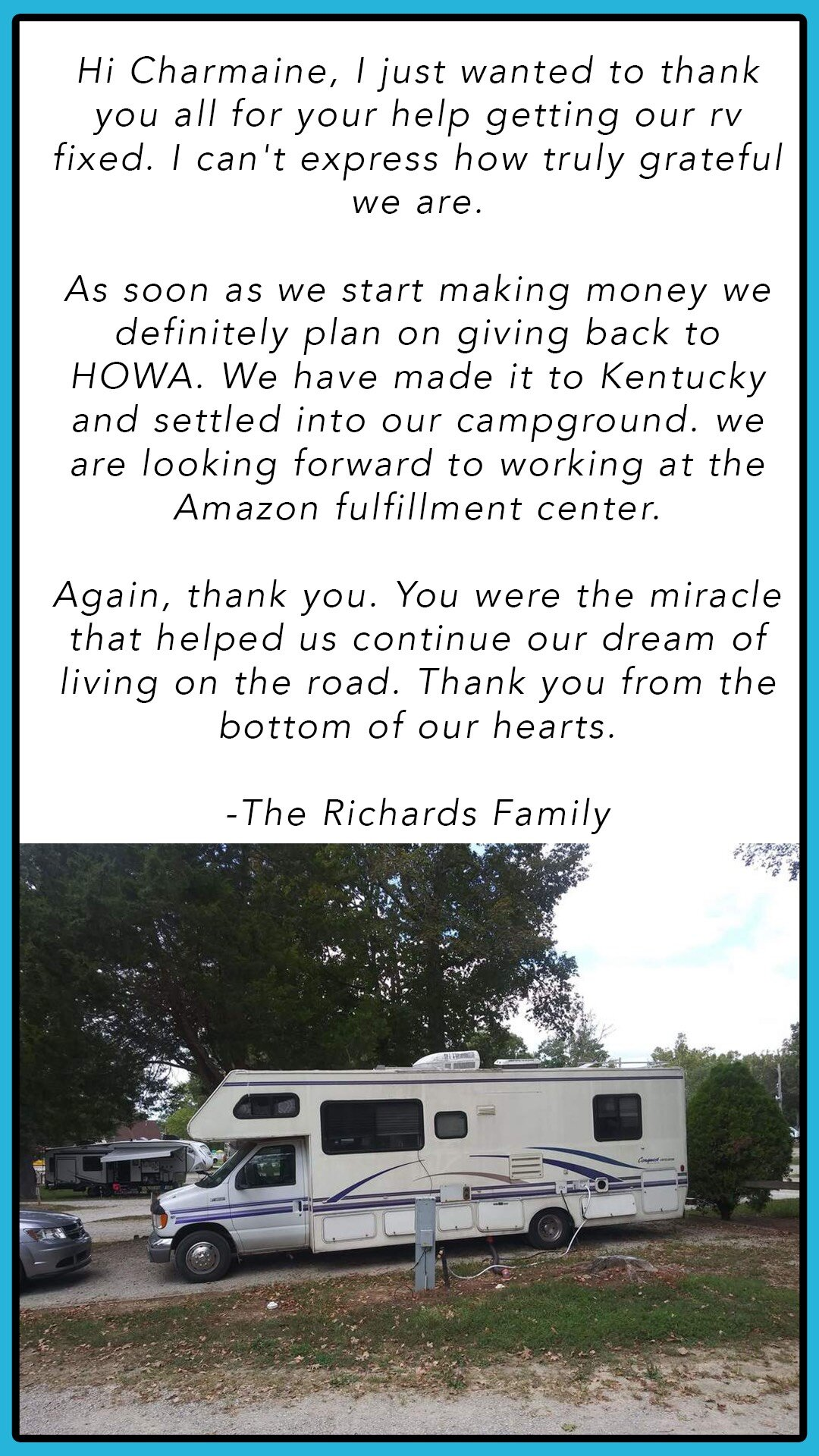 A positive example of how HOWA has helped people in need