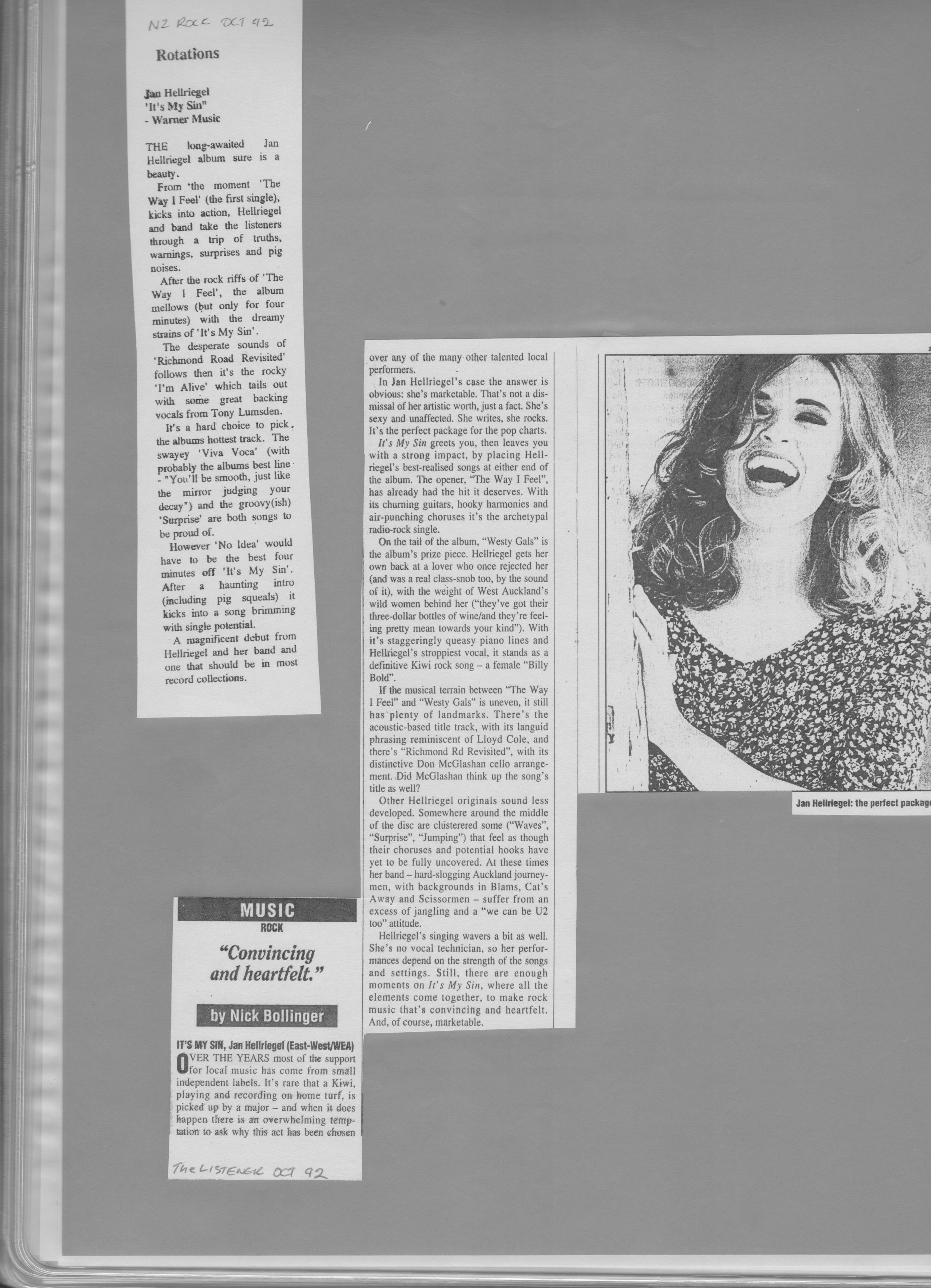 Listener Review - October 1992