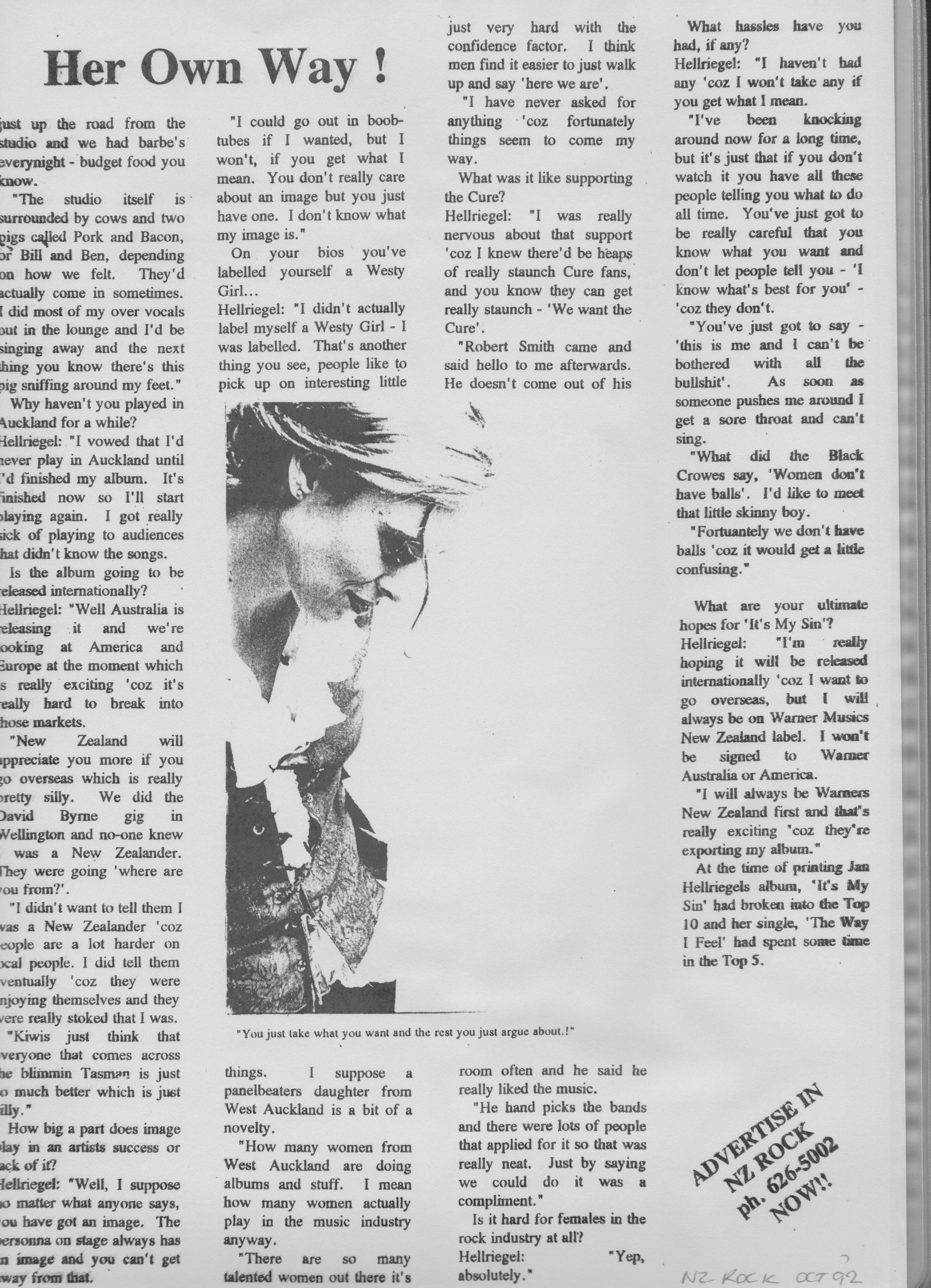 NZ Rock Pg. 2 - September 1992
