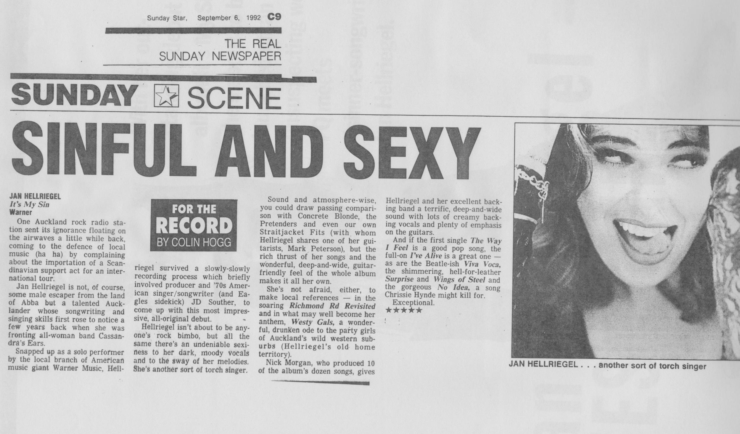 Sunday Star - September 1992