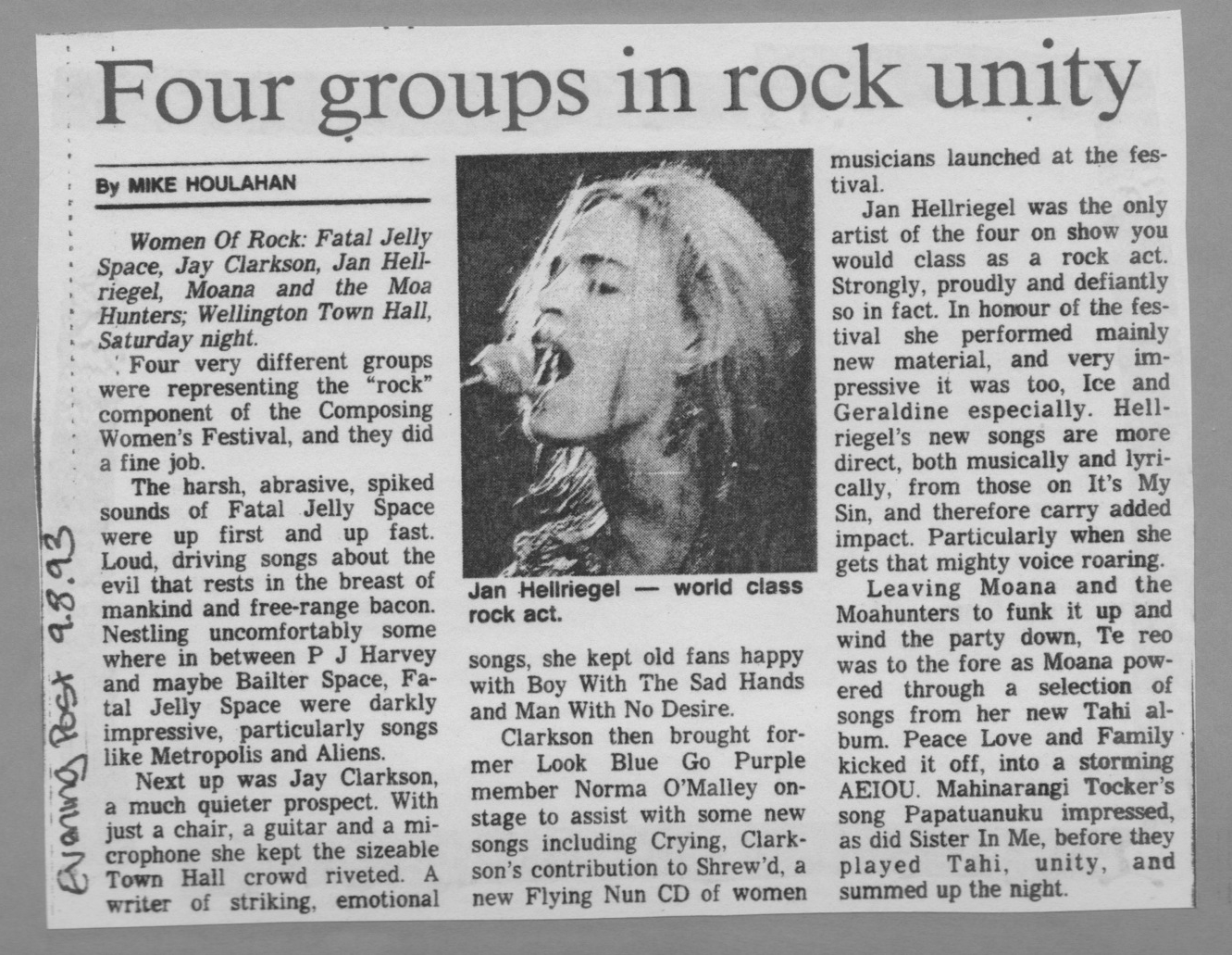 Evening Post // Mike Houlahan - August 1993
