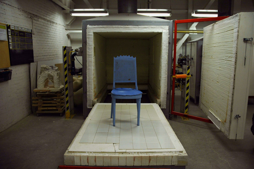 Chair before entering the kiln