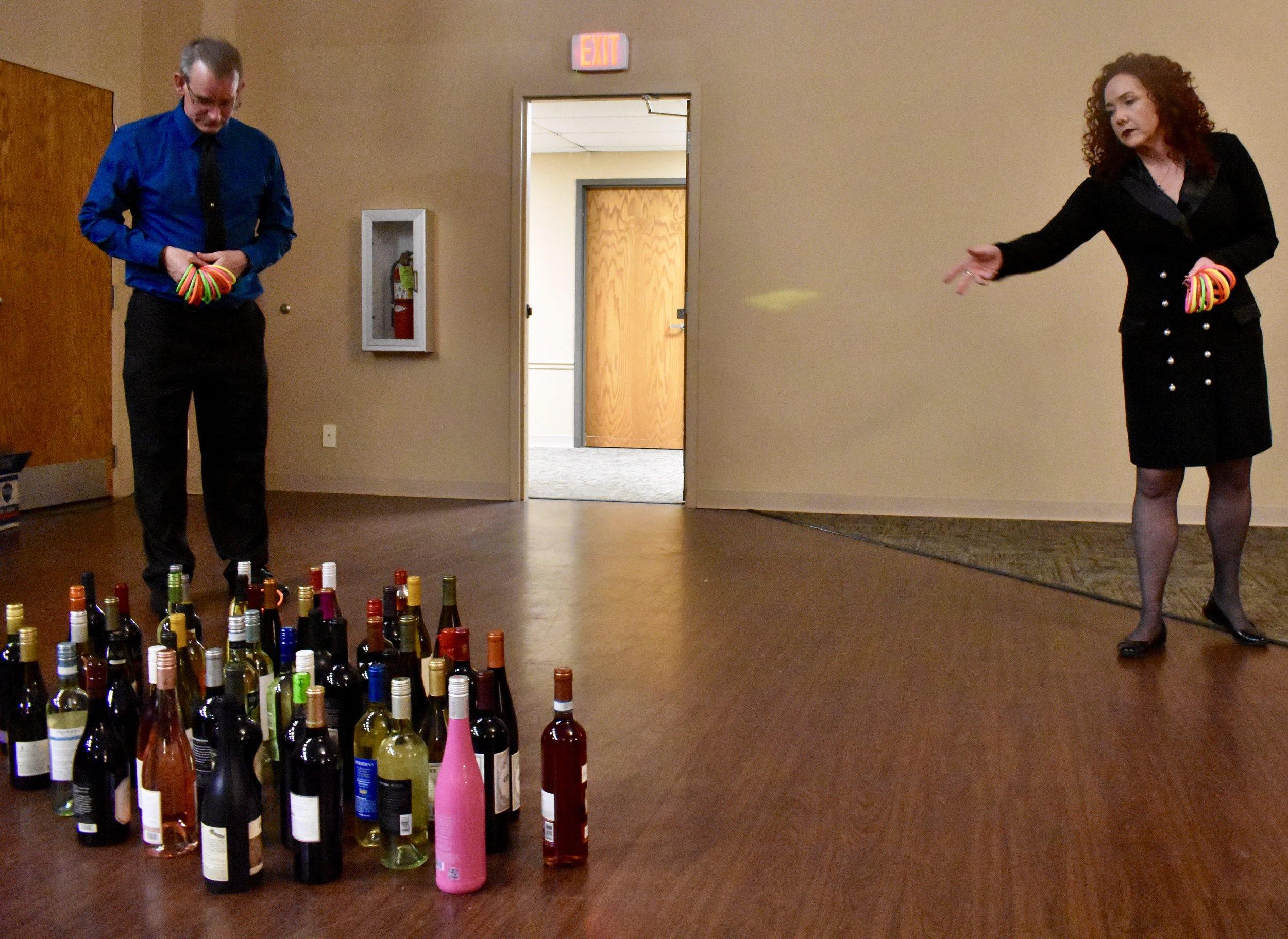 WINE TOSS WAS A HUGE SUCCESS! 5 TOSSES= $10 // 12 TOSSES+ $20. YOU WIN THE BOTTLE YOU LAND ON! LAND ON MULTIPLE? YOU PICK YOUR FAVORITE!