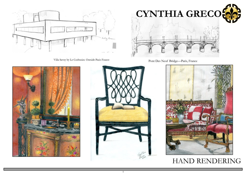 Hand Rendered Drawings Refined Design,Small Home Interior Design Ideas