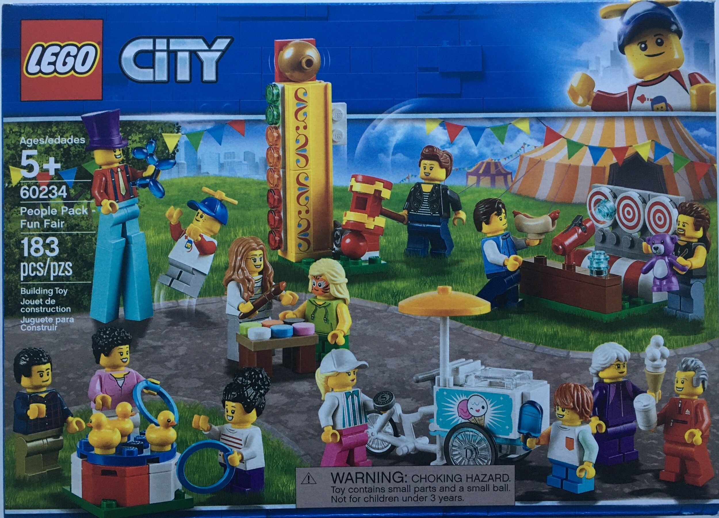 Lego 60234 City people pack fun fair Grandmother With Purple Suit MiniFigure NEW