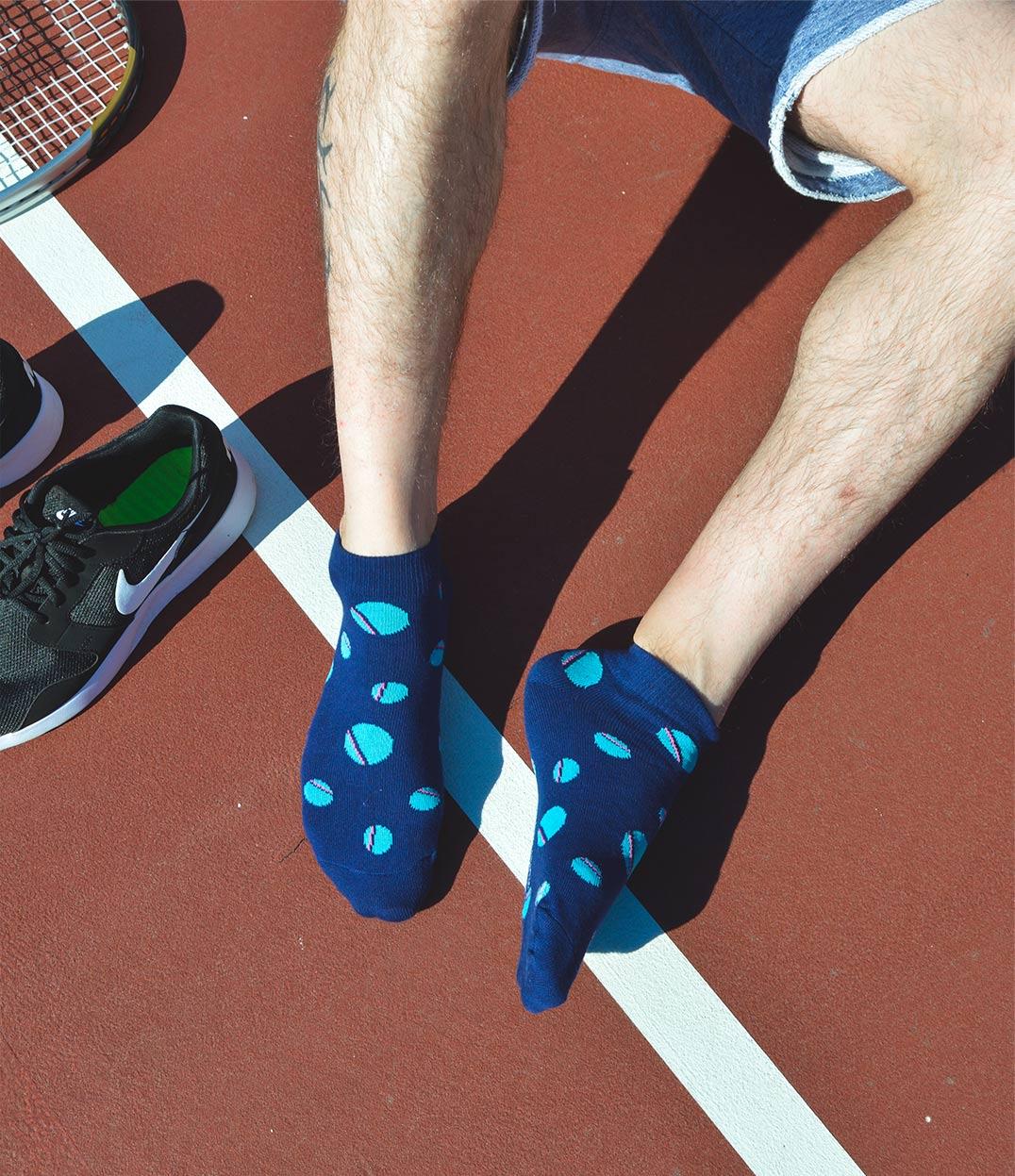 Unisex Blue Polka DotsAnkle Socks | Urban Drawer