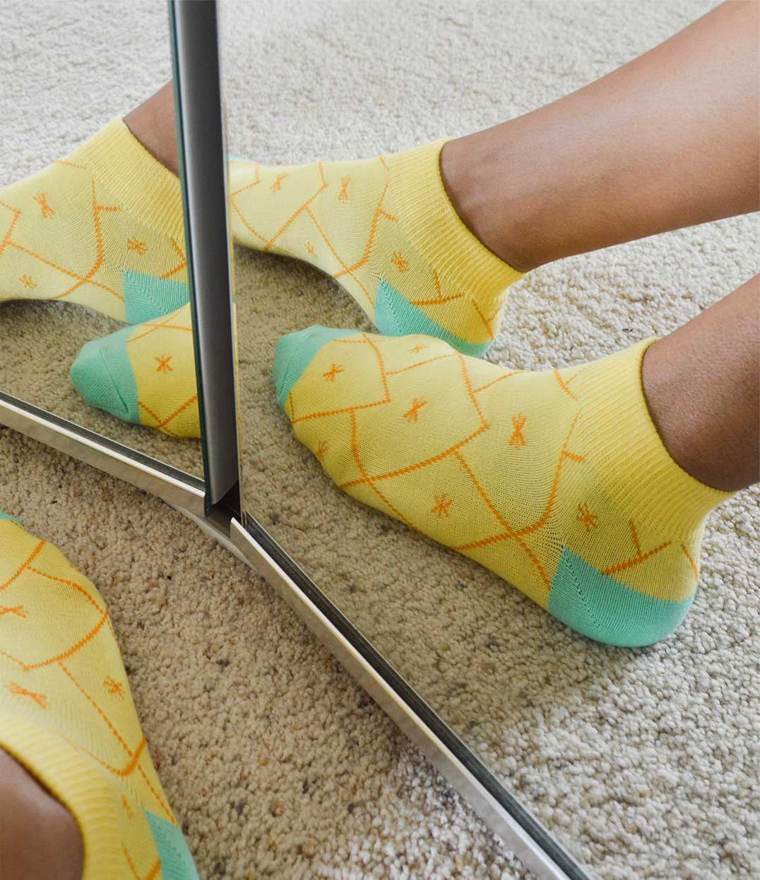Pineapple Ankle Ankle Socks | Urban Drawer