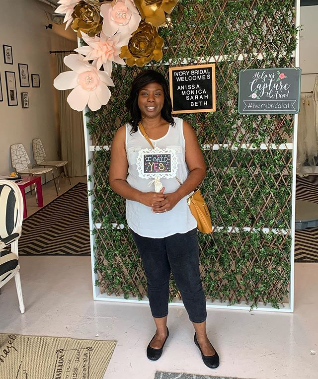 Congrats to Monica! She said #yes to a beautiful dress. Thanks for choosing Ivory. We love our brides! 💋🎉💍
