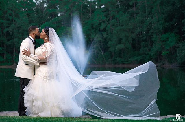 Simply stunning! We love a good veil. 😍💗💍💋Congrats again to Natassia and her new hubby.