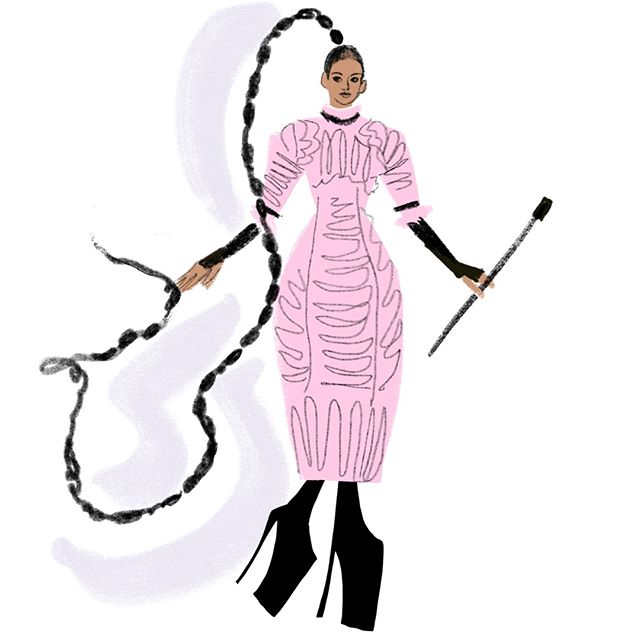 #metgala 6/9: @tessamaethompson in @chanelofficial  #art #drawing #fashionillustration #illustration #chanel
