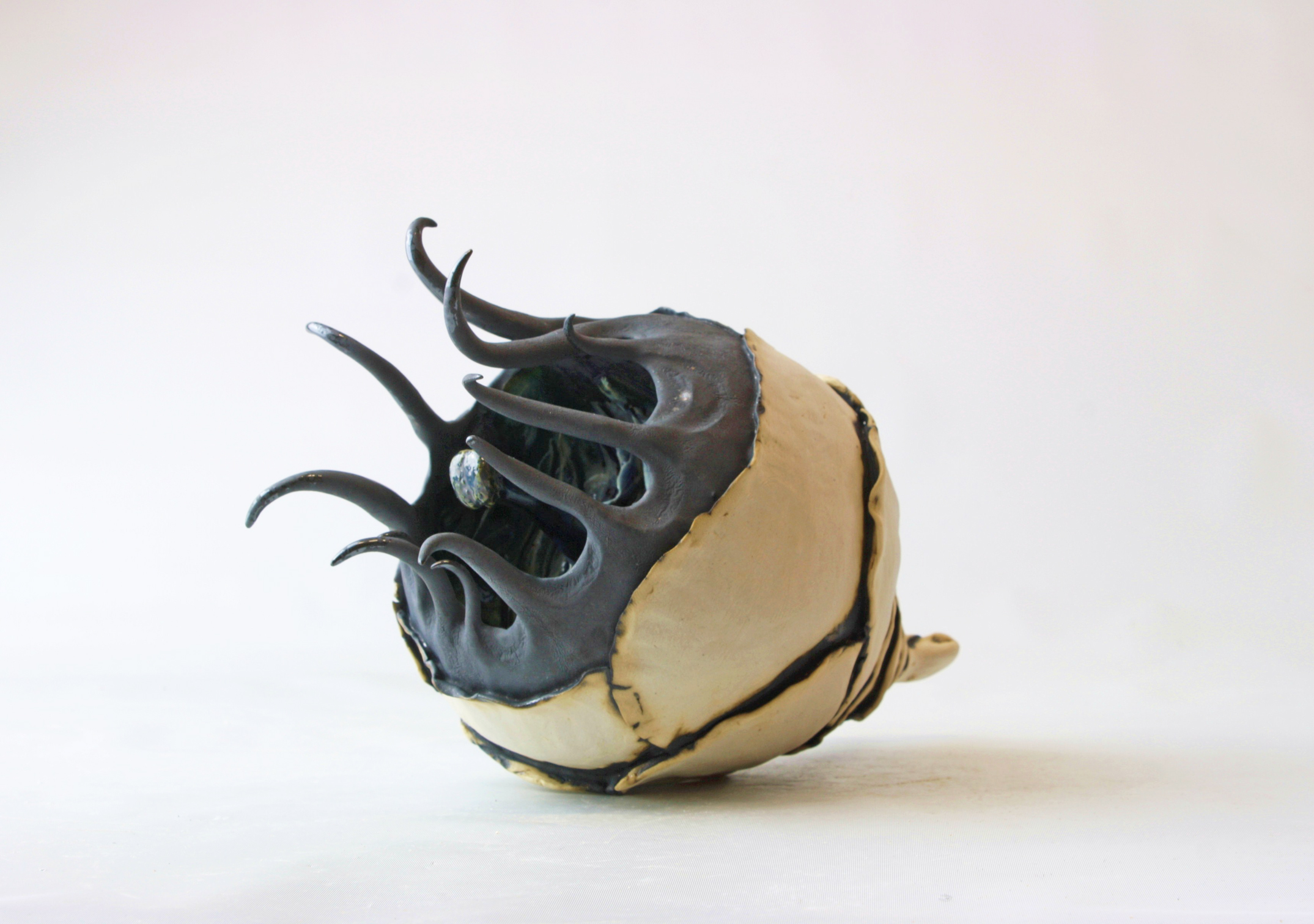 Querencia, 2015, Glazed stoneware ceramic, mother of pearl lustre