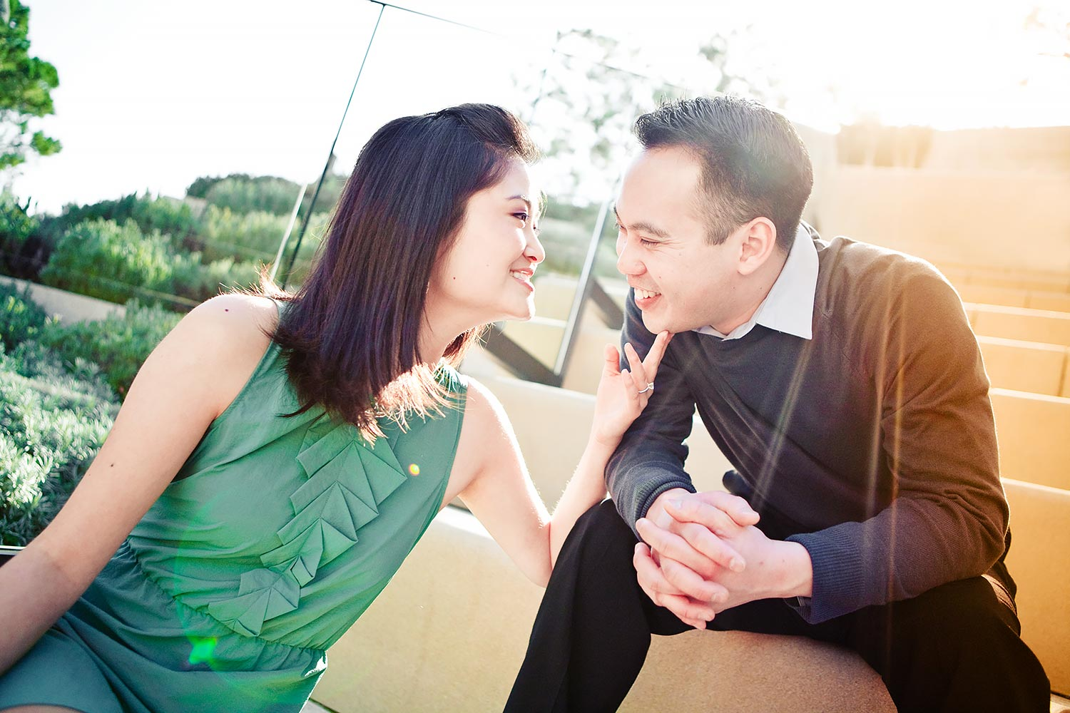 Getty Villa Engagement | Stephen Grant Photography