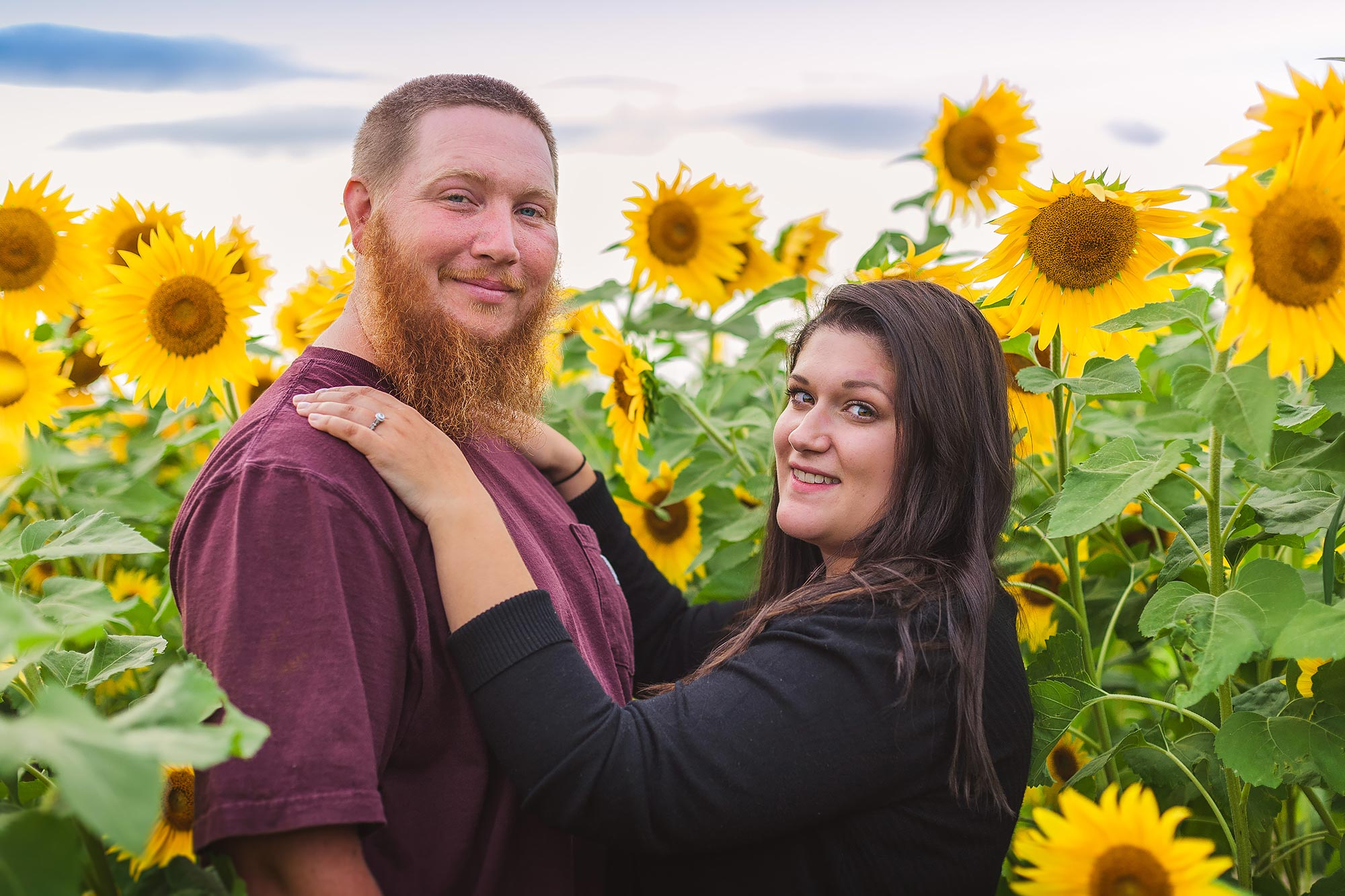 Boston Sunflower Engagement | Stephen Grant Photography
