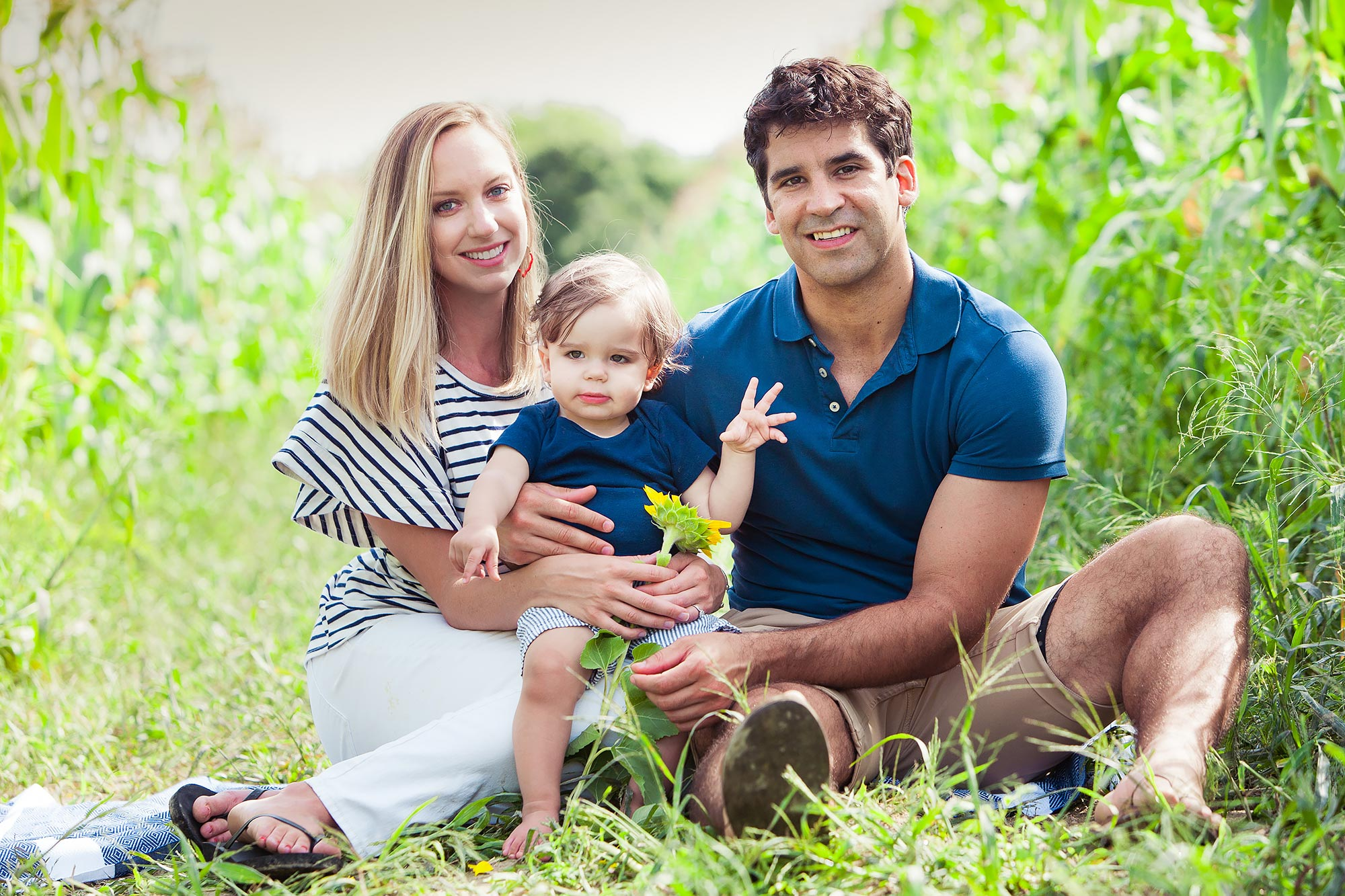 Colby Farm Sunflower Family Portraits | Stephen Grant Photography