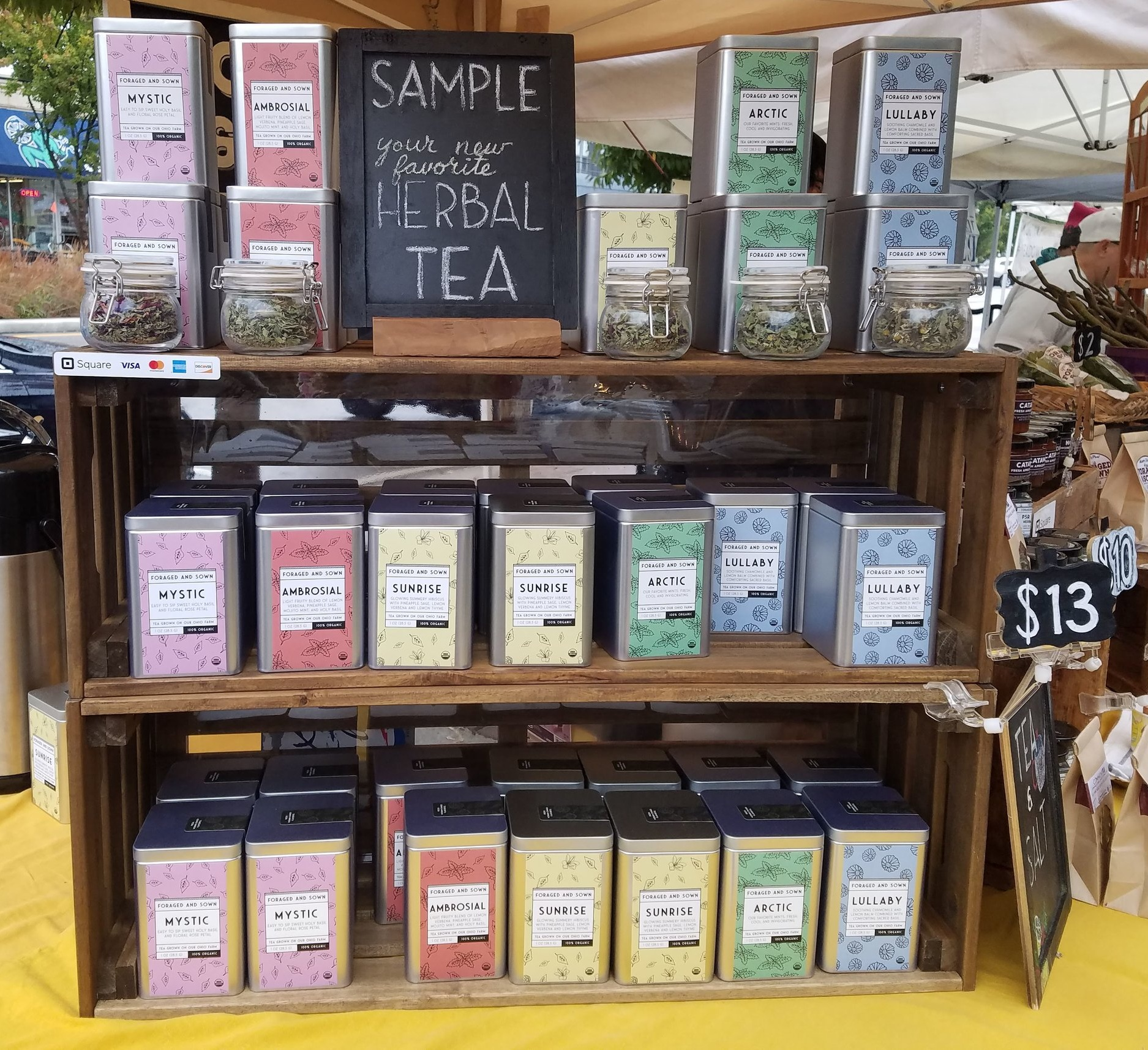 We dry, process, and package our certified organic farm-grown herbs into fresh, flavor-packed herbal teas.
