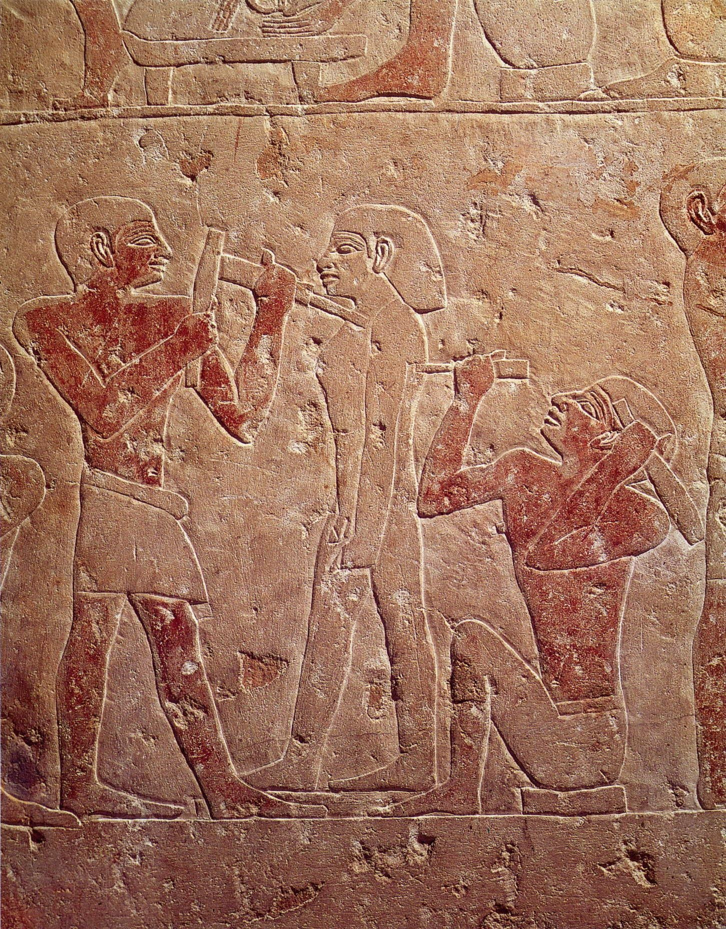 Two-Sculptors-Working-on-a-Statue-2510-2460-BC-Saqqara-Egyptian-Museum-Cairo 3B - Mastaba of  Kaemrehu.jpg