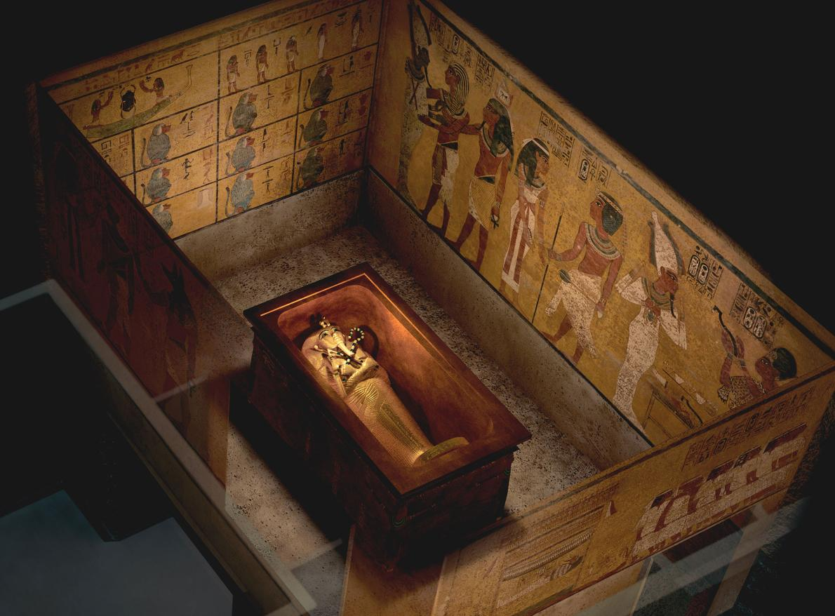 The theory goes that construction of Tutankhamun's tomb wasn't far enough advanced when the young king died unexpectedly at the age of 19. Another tomb needed to be adapted for the royal burial, and the prime candidate was that of Queen Nefertiti; Tutankhamun's Step-mother, who had died ten years earlier. Dr. Reeves believes that beyond the tomb's northern wall (on the right in this picture), lies the undisturbed burial of Nefertiti. Photo: Kenneth Garrett.